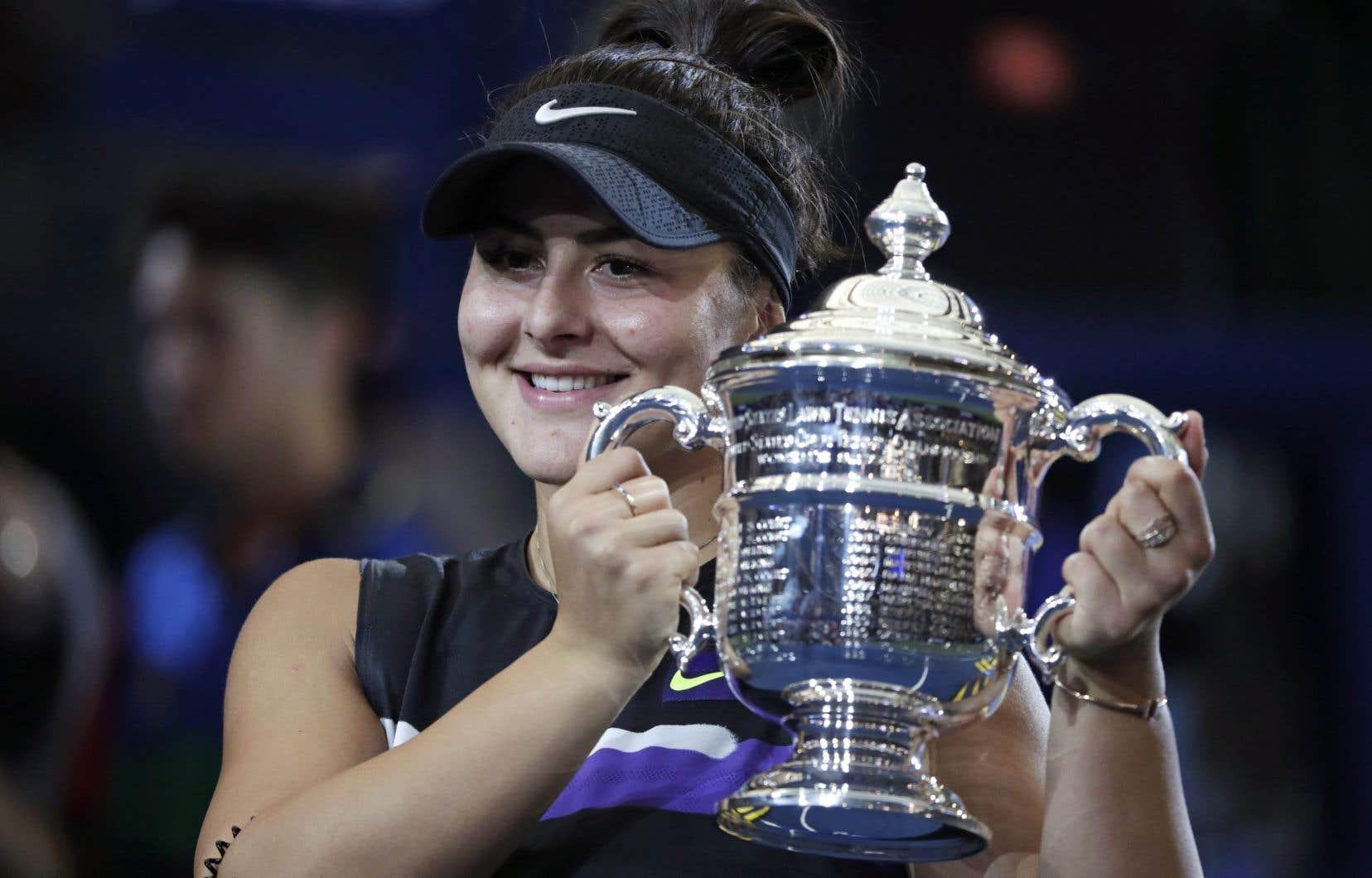 Bianca Andreescu est devenue la première canadienne de l'histoire à remporter un titre en simple dans un tournoi du Grand Chelem.