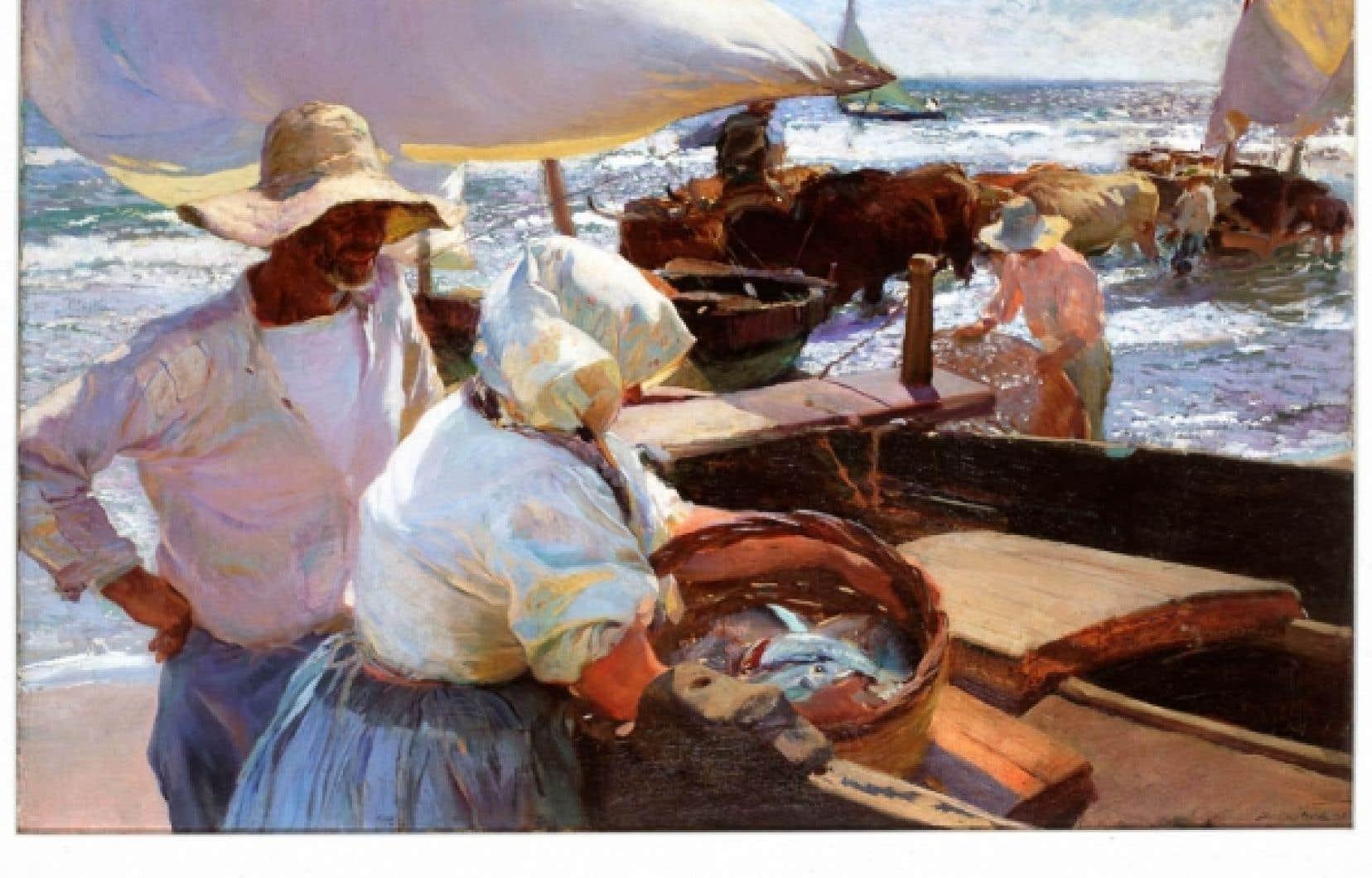 Joaquin Sorolla, Soleil du matin, 1901. Huile sur toile, 81 x 128 cm. Collection Pérez Simón/Fundación JAPS, Mexico<br />