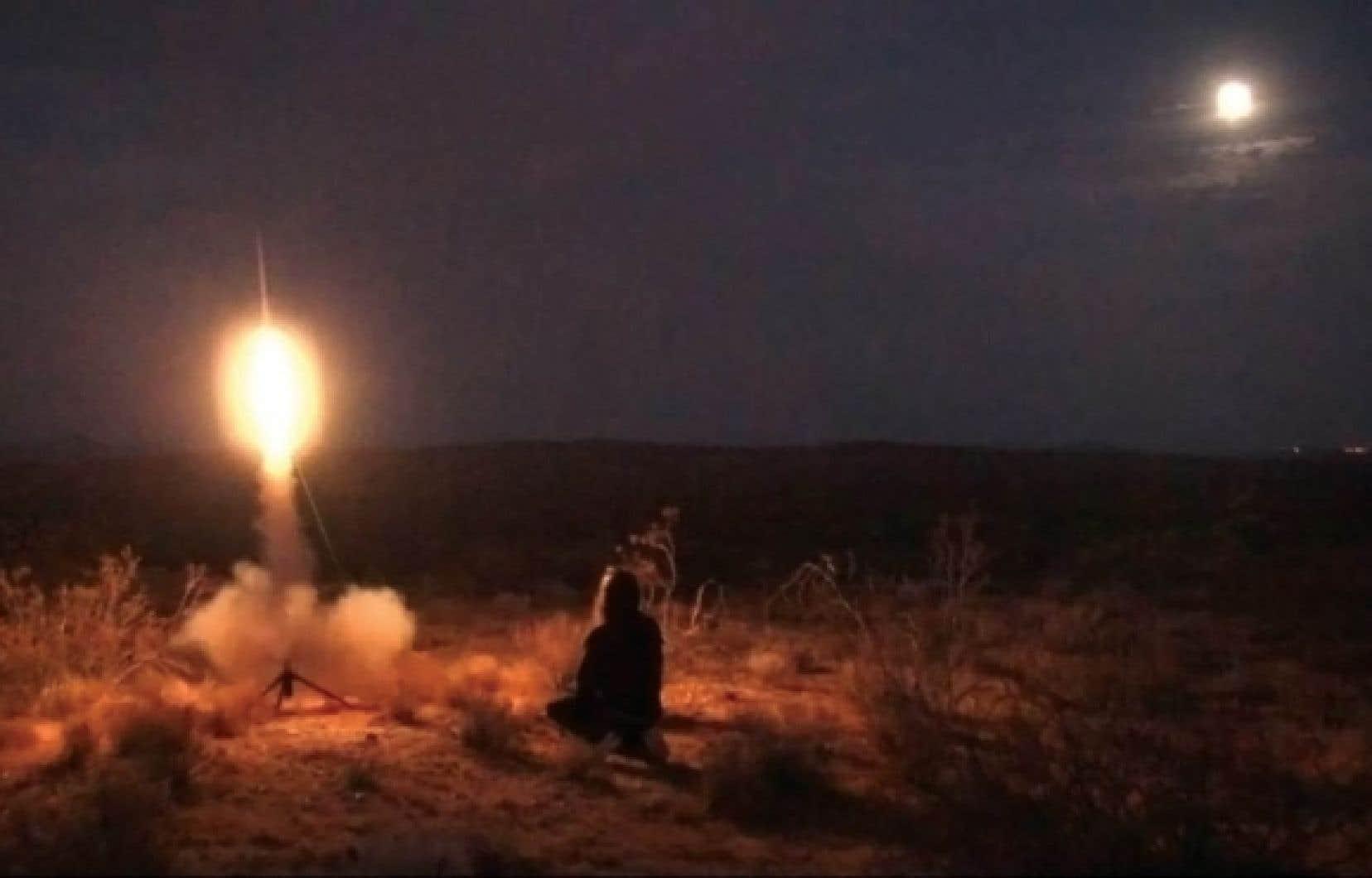 Charles Stankievech, Ghost Rockets World Tour, Space Oddity, 2009. Extrait vidéo.<br />