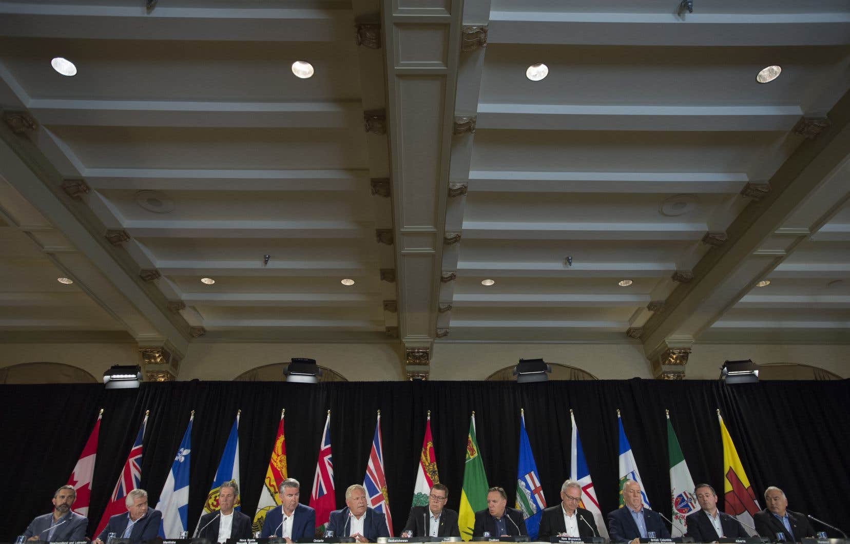 La dernière recnontre des premiers ministres provinciaux a eu lieu en juillet dernier (sur la photo).