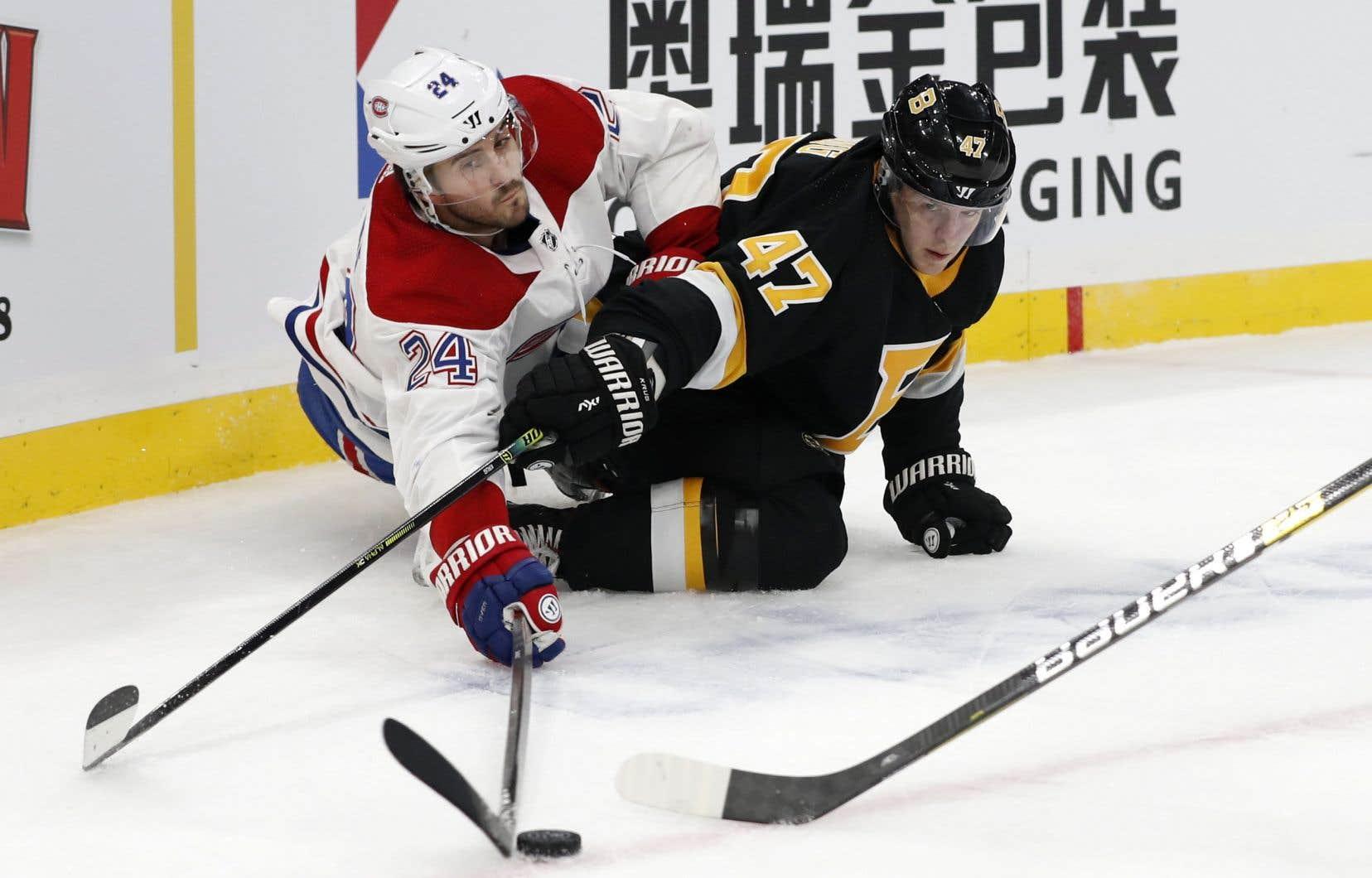 Le Canadien n'a ni réussi à freiner sa séquence de défaites consécutives, ni à se venger de son humiliante défaite de 8-1 contre les Bruins, mardi dernier.