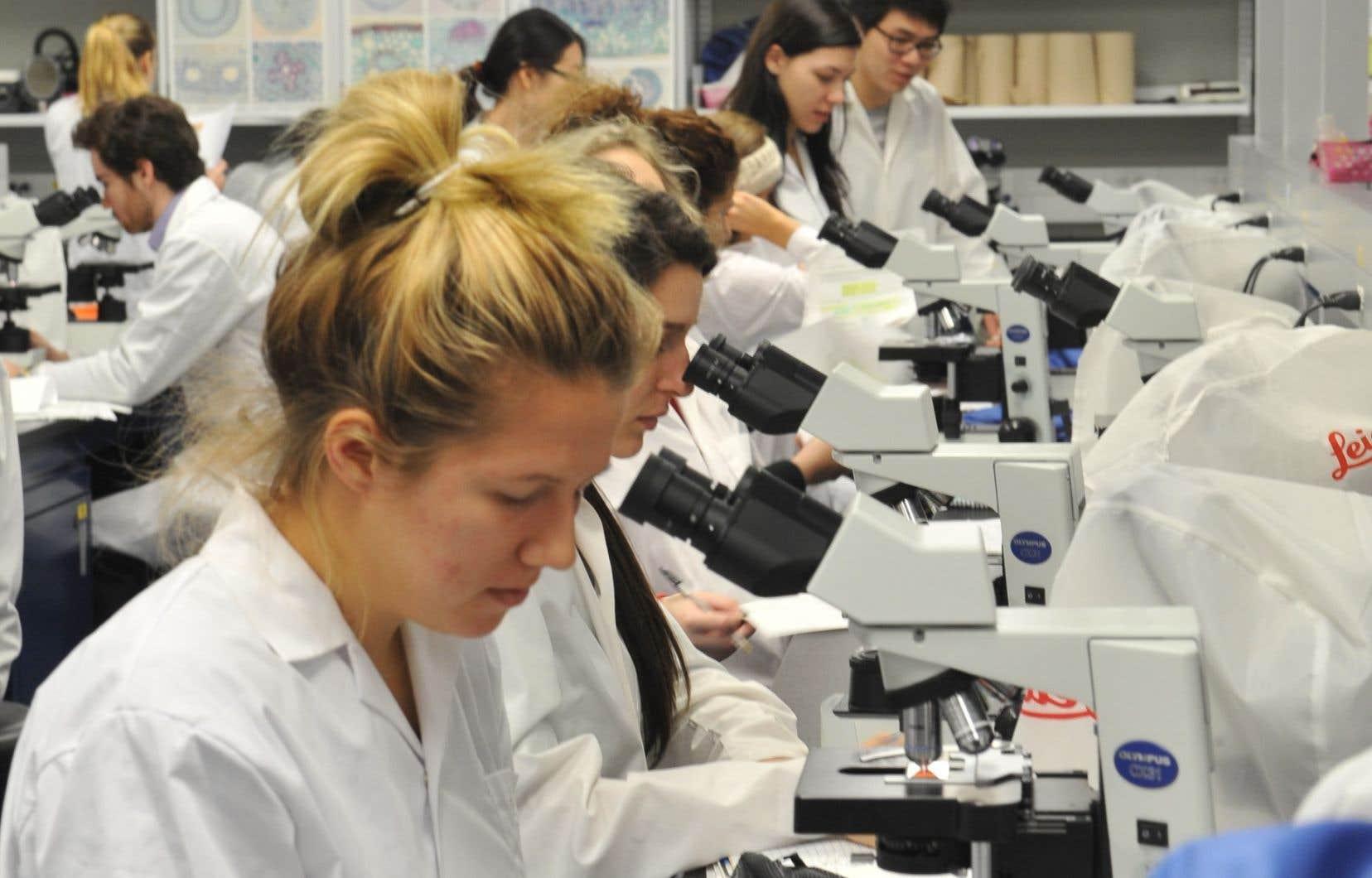 Un laboratoire de recherche du Département de biologie, situé dans le campus Loyola de l'Université Concordia