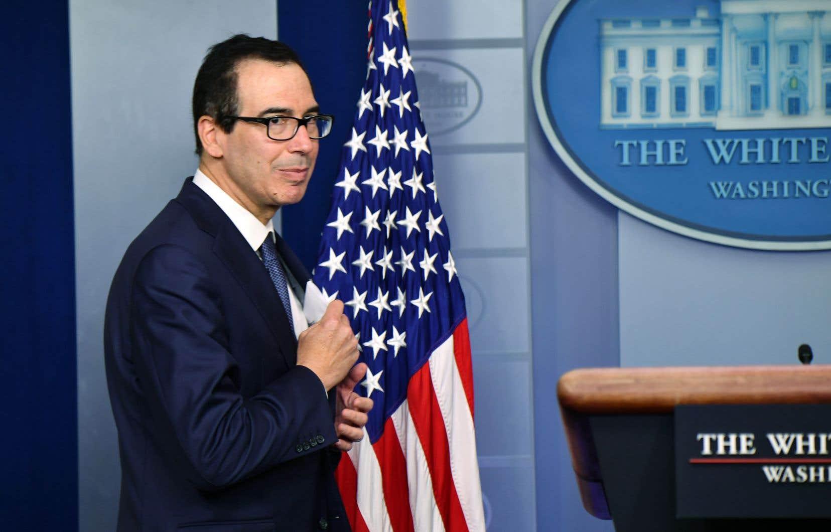 Le secrétaire américain au Trésor, Steven Mnuchin