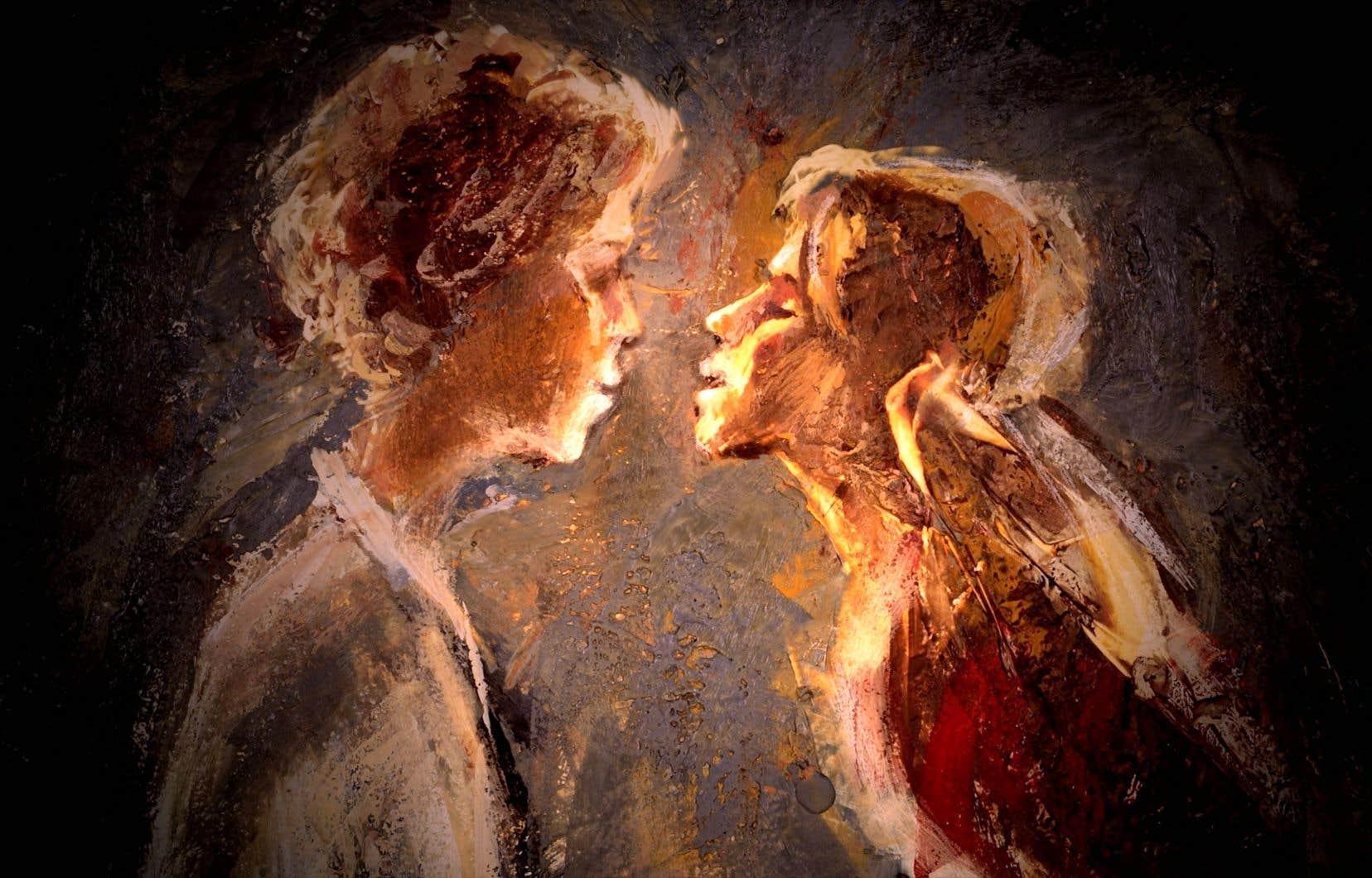 «Physique de la tristesse» montre la virtuosité de Theodore Ushev avec la peinture à la cire et son amour pour le clair-obscur.