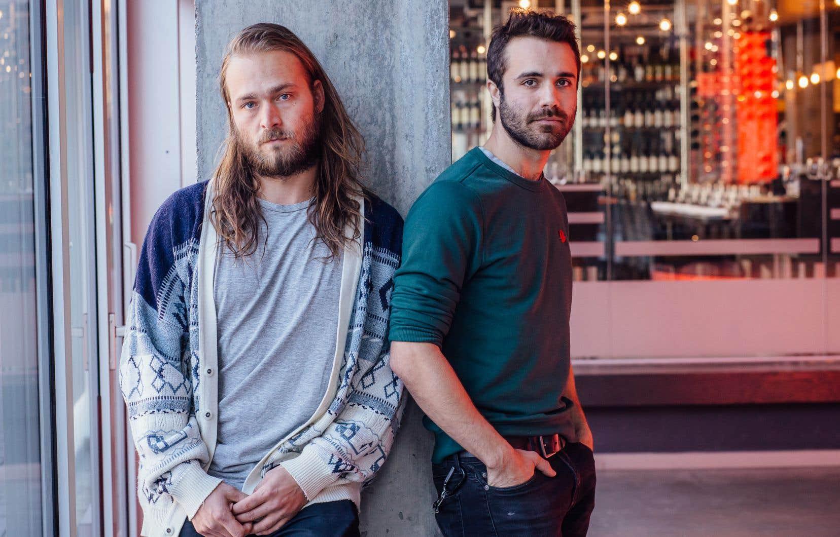 La réalisatrice Kim St-Pierre s'est entourée de Maxime Dumontier (à gauche) et de Jean-Simon Leduc pour incarner des «hommes à la fois forts et vulnérables».