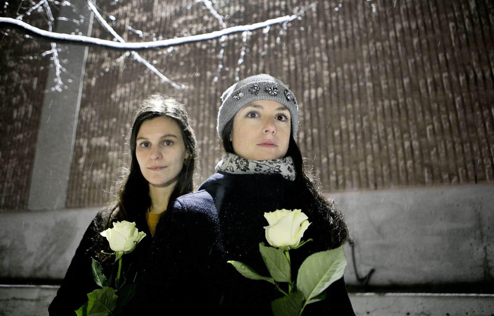 Halyna Boris, 27 ans, et Hélène Drouin, 30 ans, se souviennent toujours. Les deux filles de Poly ont marché dans les pas des 14 victimes du 6 décembre 1989.