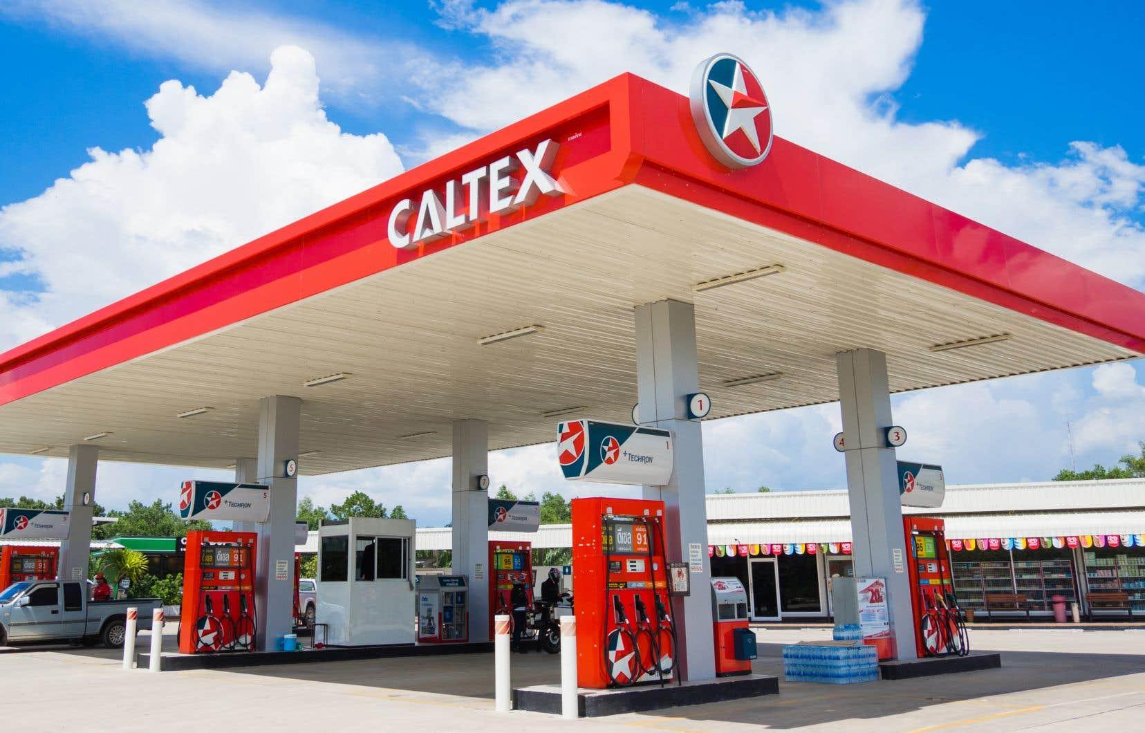Une station-service Caltex en Thaïlande