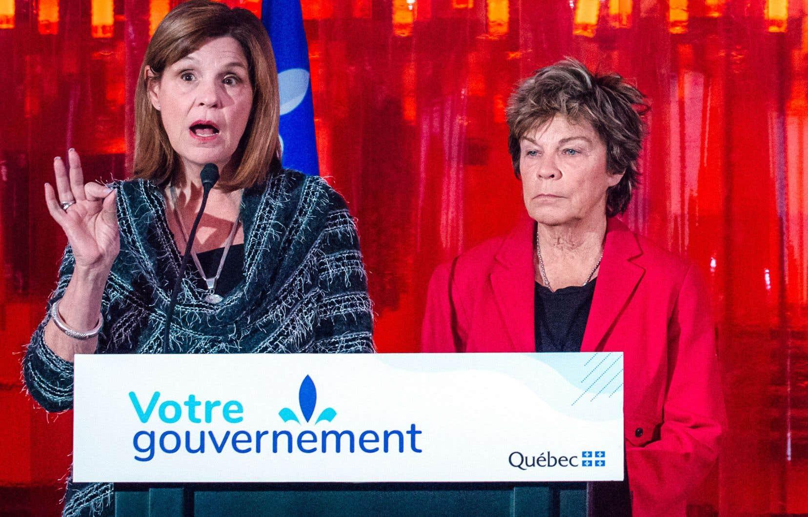Liza Frulla (à gauche) a été ministre libérale de la Culture, à Québec, et du Patrimoine, à Ottawa. Quant à Louise Beaudoin, elle a eu un mandat marquant à la Culture dans les années 1990.