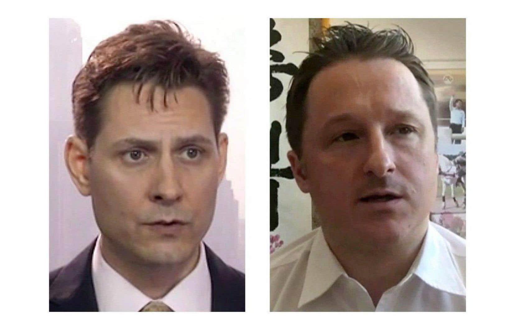 L'arrestation en Chine de Michael Kovrig (à gauche) et de Michael Spavor (à droite) est survenue quelques jours après celle de Meng Wanzhou.