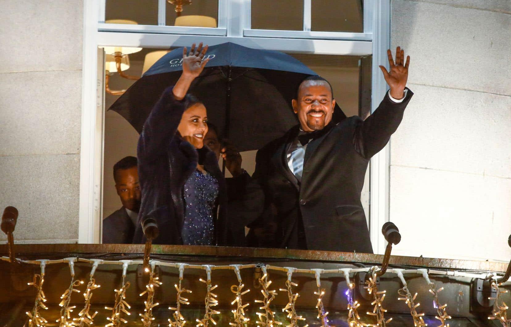 Abiy Ahmed et son épouse, Zinash Tayachew