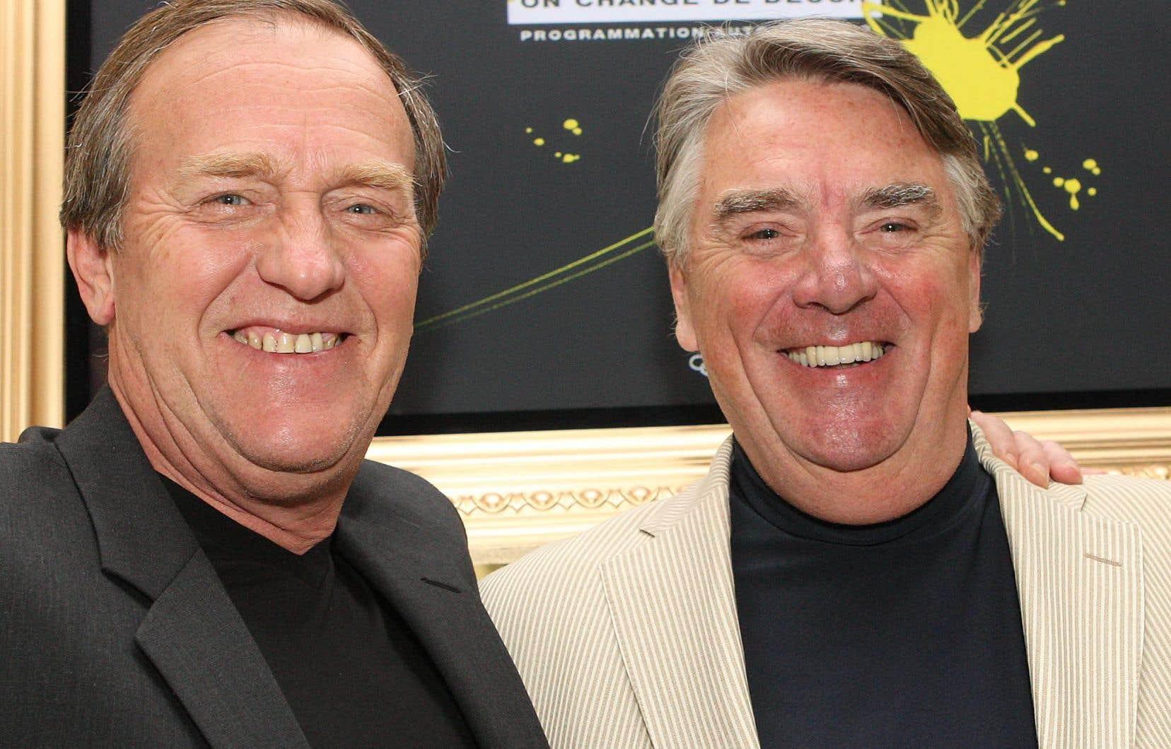 Jean Pagé (à droite), en compagnie de Jean Perron en 2009