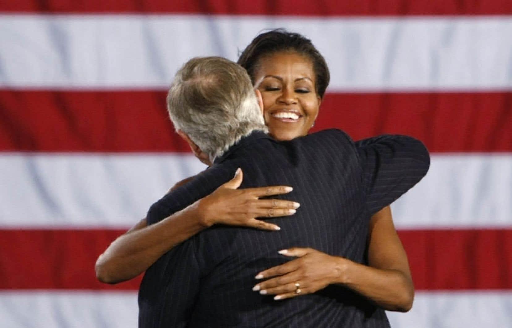 Redoutant de subir une cuisante défaite aux élections de mi-mandat, le Parti démocrate a sorti l'artillerie lourde au cours des dernières semaines: Michelle Obama. Hier, en fin de course, la première dame s'est exprimée lors d'un rassemblement du sénateur sortant du Nevada, Harry Reid.<br />