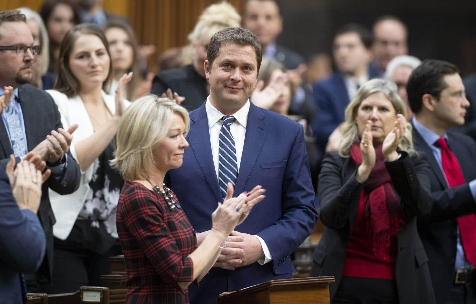 Andrew Scheer a annoncé jeudi qu'il quittait ses fonctions de chef conservateur. Il demeure toutefois député.