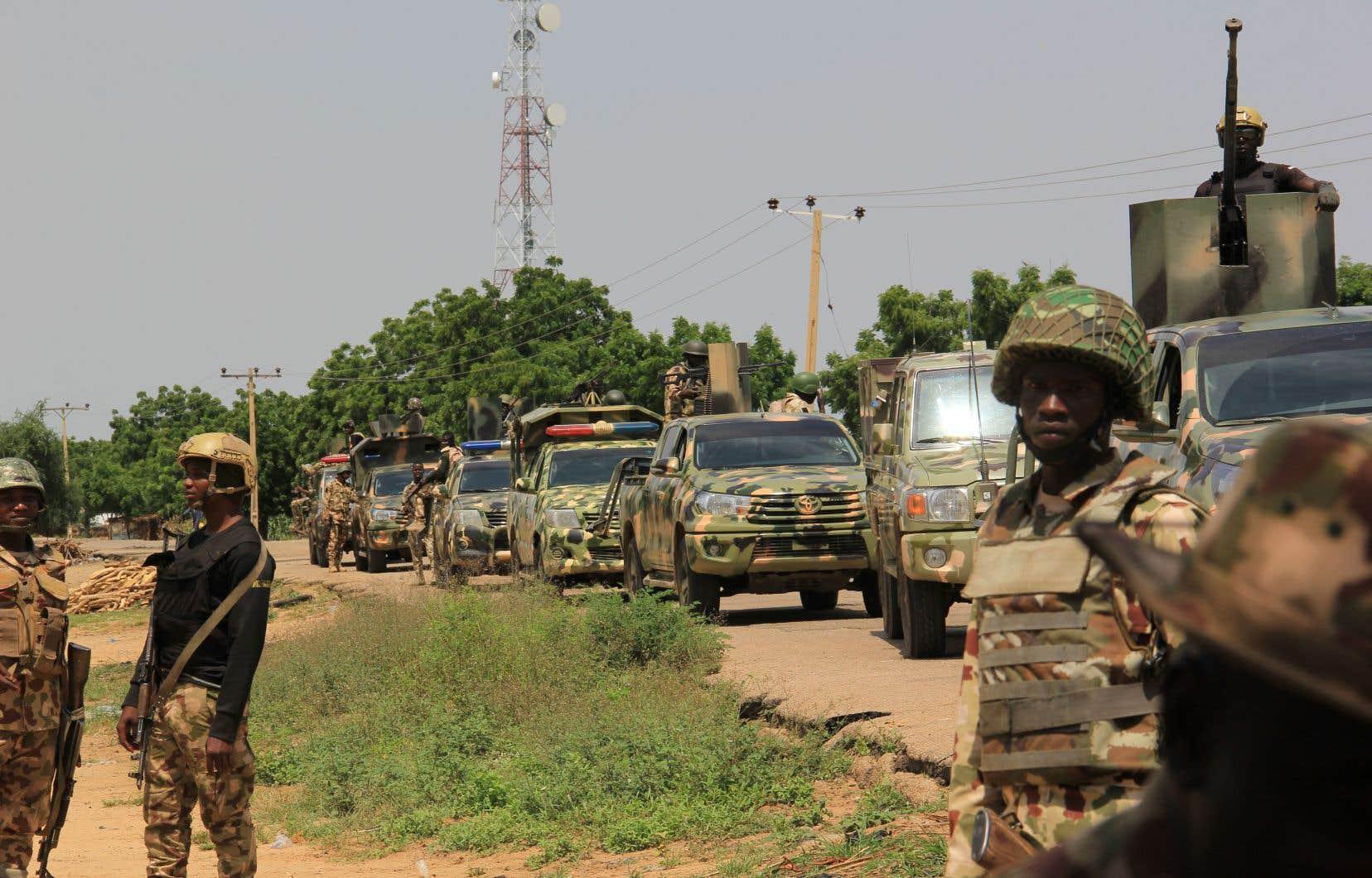 Des soldats nigériens en patrouille, le 12 octobre dernier
