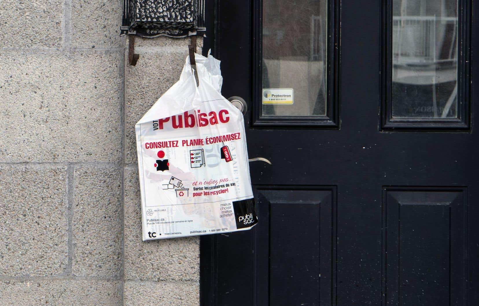 Transcontinental, propriétaire du Publisac, utilise toutes les tribunes possibles pour influencer les décideurs, dont la mairesse Valérie Plante.