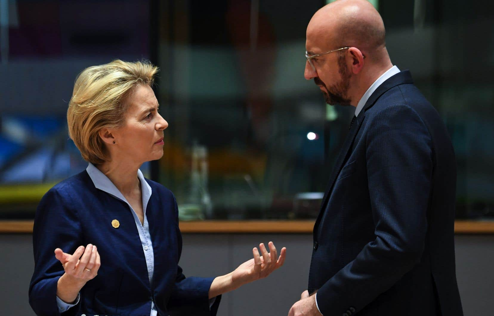 La présidente de la Commission européenne, Ursula von der Leyen, et le président du Conseil européen, Charles Michel