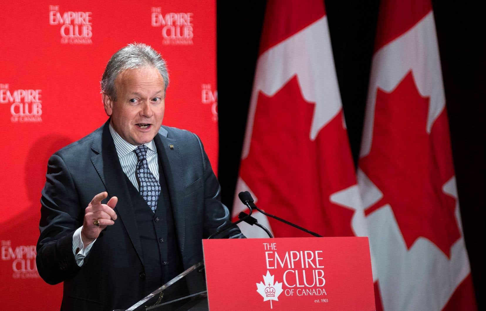 Le gouverneur de la Banque du Canada, StephenPoloz, a fait valoir, lors d'un discours prononcé devant l'Empire Club de Toronto, que le ralentissement de la croissance démographique avait freiné la croissance économique.