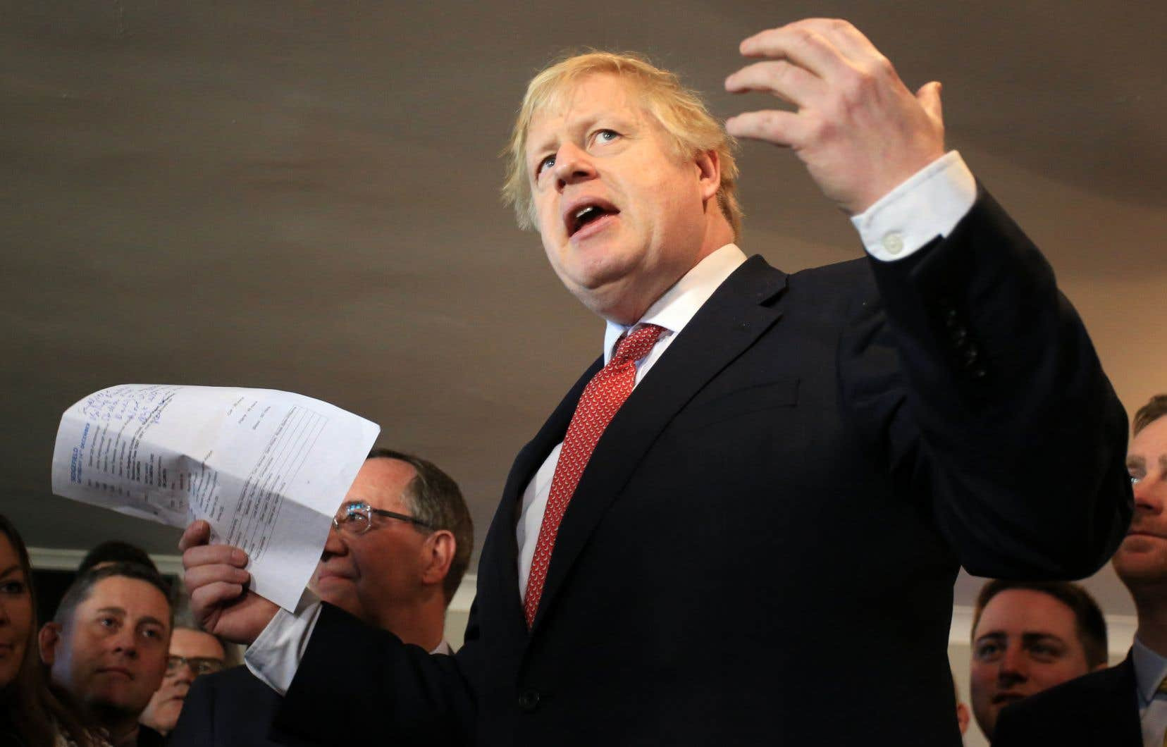 Le premier ministre britannique, Boris Johnson, s'est adressé à ses partisans et a réitéré son intention de «réaliser le Brexit» d'ici la fin du mois de janvier.