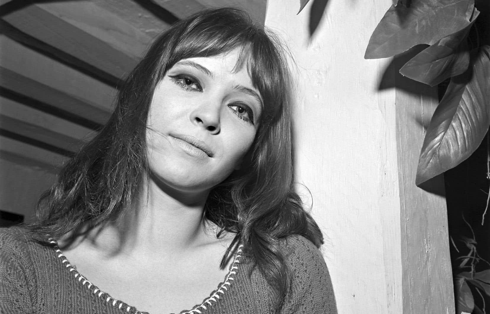 L'actrice française d'origine danoise Anna Karina, en 1966