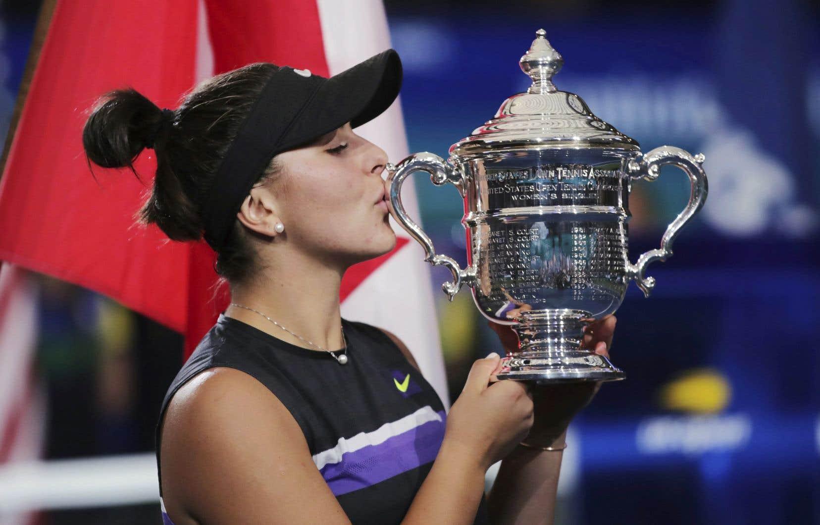 Malgré une blessure récurrente, Bianca Andreescu a remporté trois titres, dont celui des Internationaux des États-Unis.