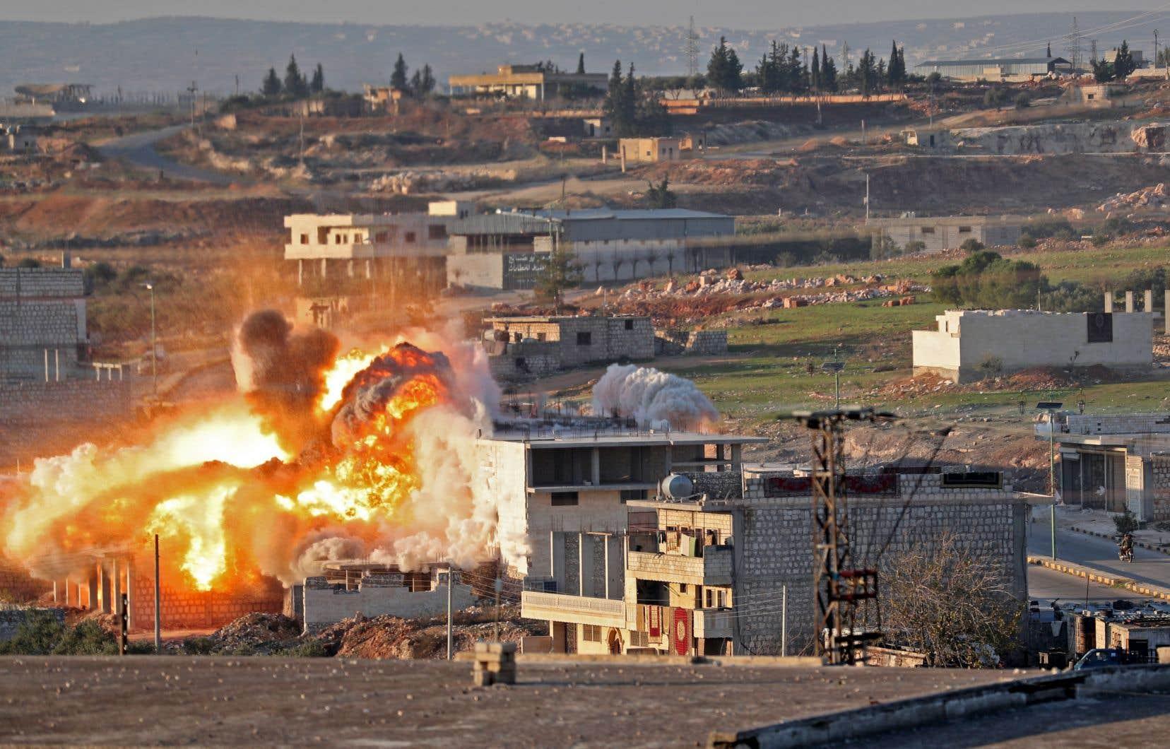 De nouveaux bombardements intenses ont eu lieu mercredi dans la province d'Idleb, dans le nord-ouest de la Syrie.