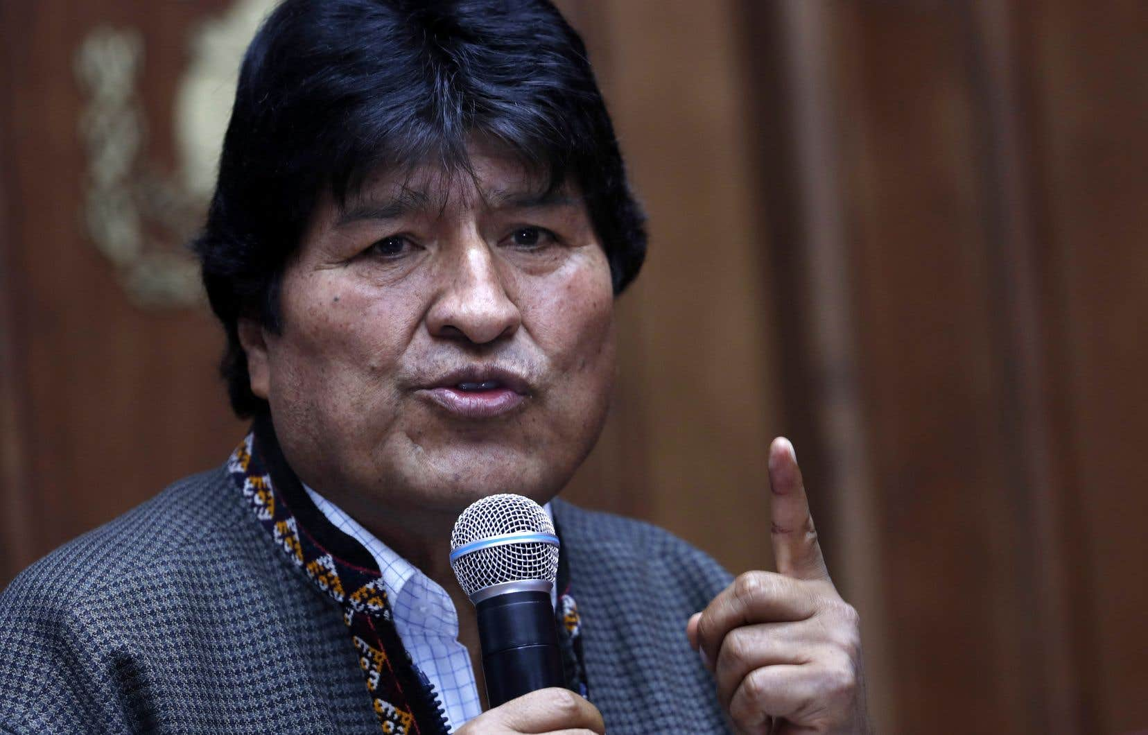 L'ex-président de la Bolivie, Evo Morales