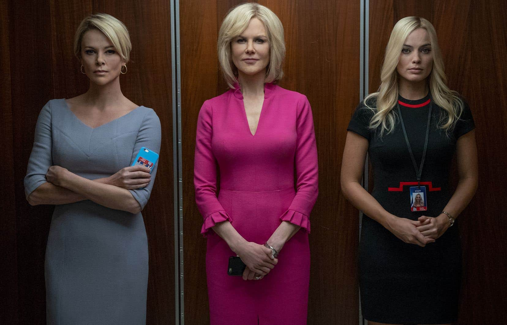 Aidées de maquillages prosthétiques aussi élaborés que crédibles, Nicole Kidman, qui incarne Gretchen Carlson, et surtout Charlize Theron, plus vraie que vraie en Megyn Kelly, ainsi que Margot Robbie entraînent  le public dans les dédales insidieusement toxiques  de Fox News.