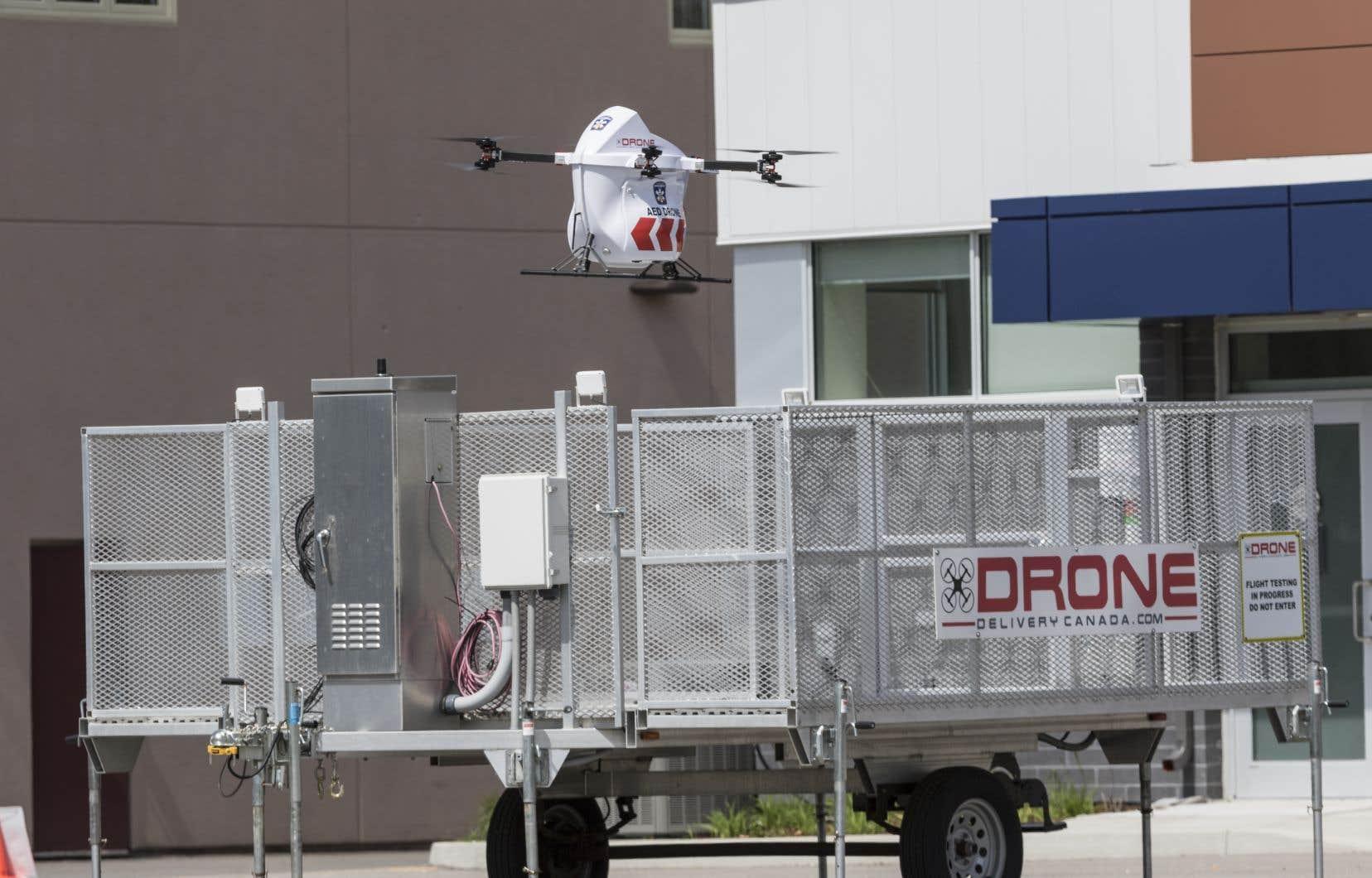 La compagnie Drone Delivery Canada (DDC) va mettre en service dans quelques mois des drones coursiers entre deux territoires de la Première Nation Moose Cree.