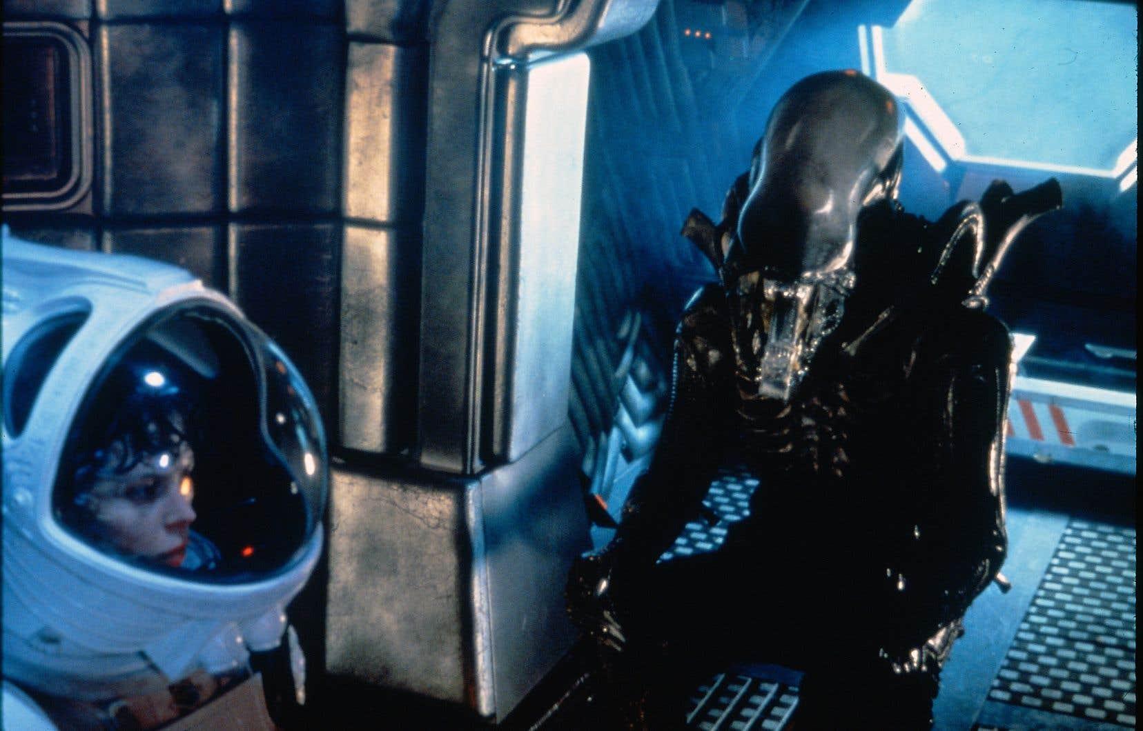 Extrait du film «Alien» de 1979, réalisé par Ridley Scott, dans lequel Ellen Ripley livre une lutte mortelle contre un horrible monstre extraterrestre.