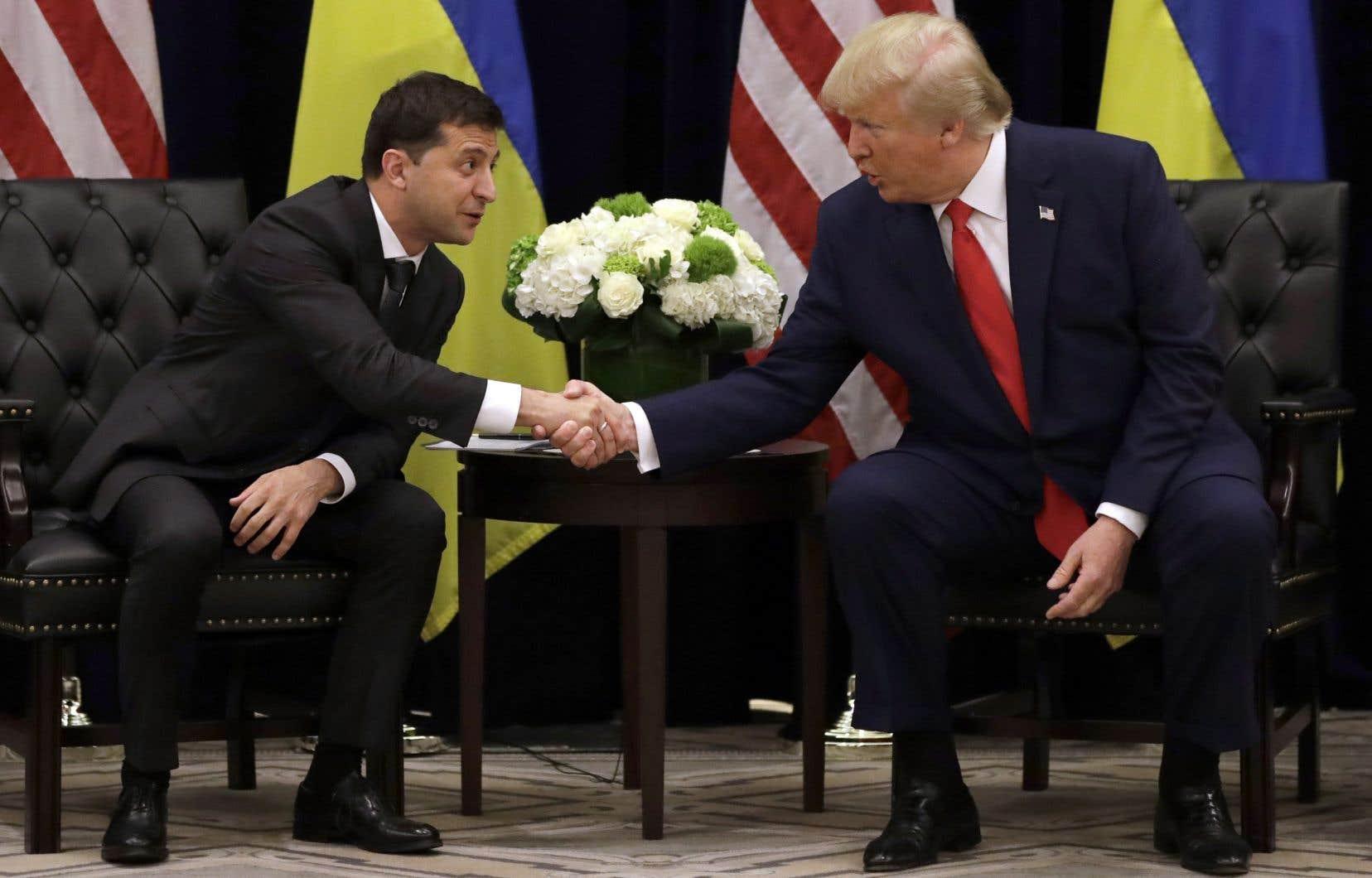 Le président de l'Ukraine, Volodymyr Zelensky, et le président des États-Unis, Donald Trump