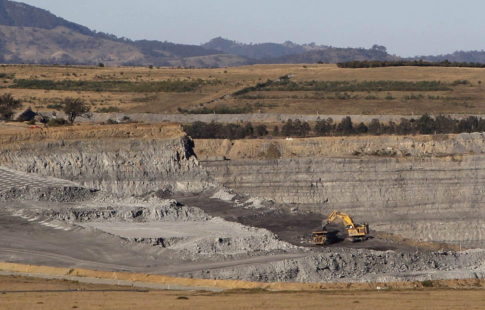 Une mine de charbon dans l'État de Nouvelle-Galles-du-Sud, en Australie