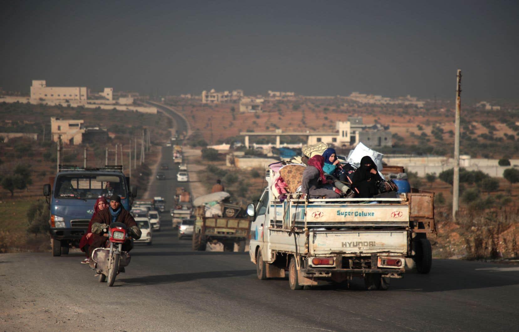 Selon l'OSDH, plus de 40000 personnes ont fui la zone des combats ces derniers jours.
