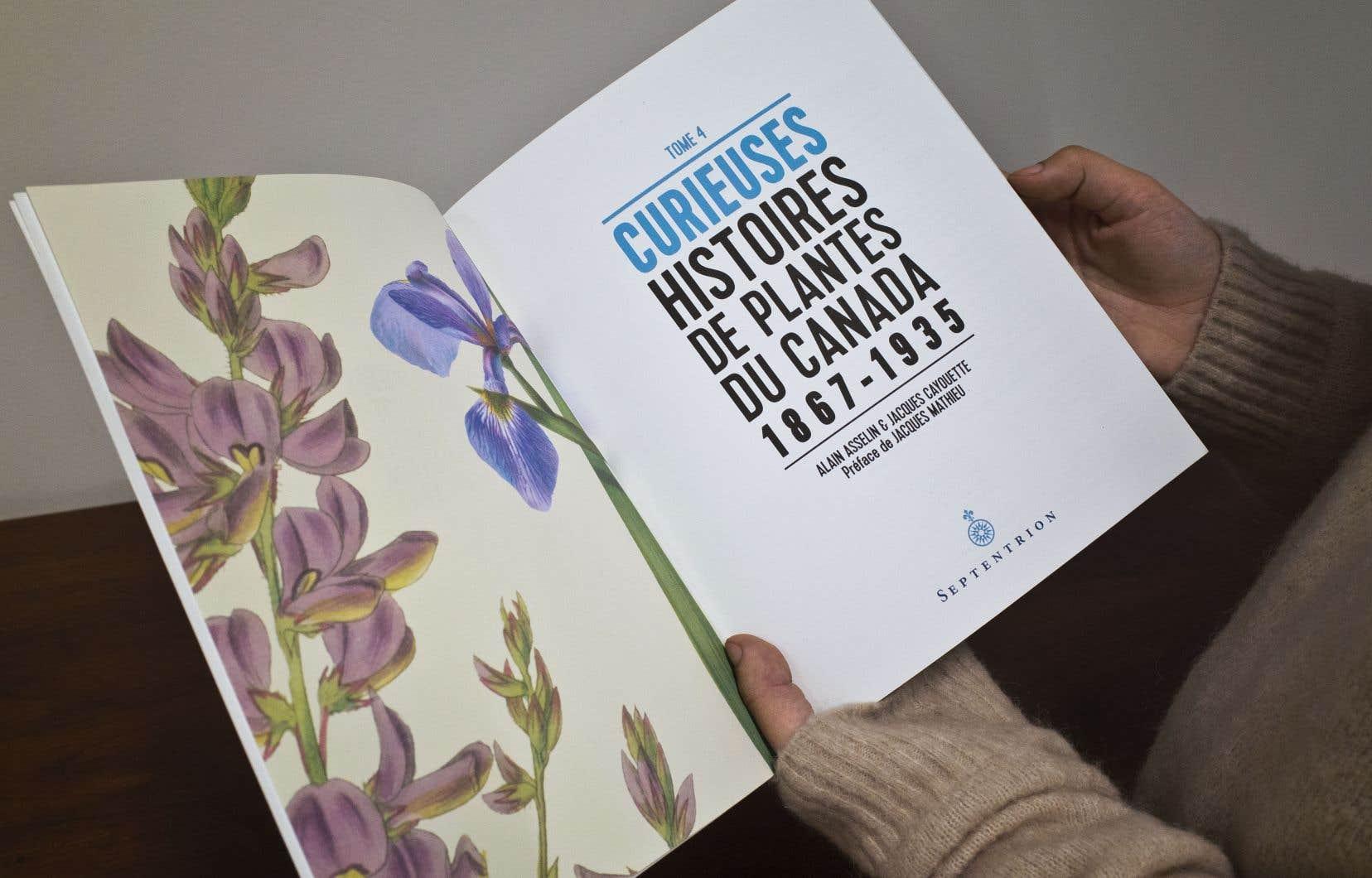 «Curieuses histoires de plantes du Canada», une suite d'historiettes délicieuses sur l'histoire du Québec envisagé sous l'angle de l'agriculture, de l'agroalimentaire, de l'industrie, de la médecine, voire des drogues.
