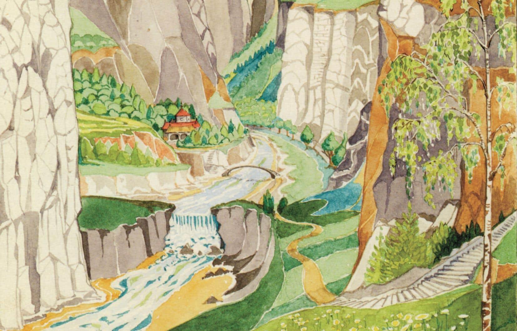L'ouvrage aborde aussi un pan méconnu de l'œuvre de Tolkien: son étonnant talent d'illustrateur.