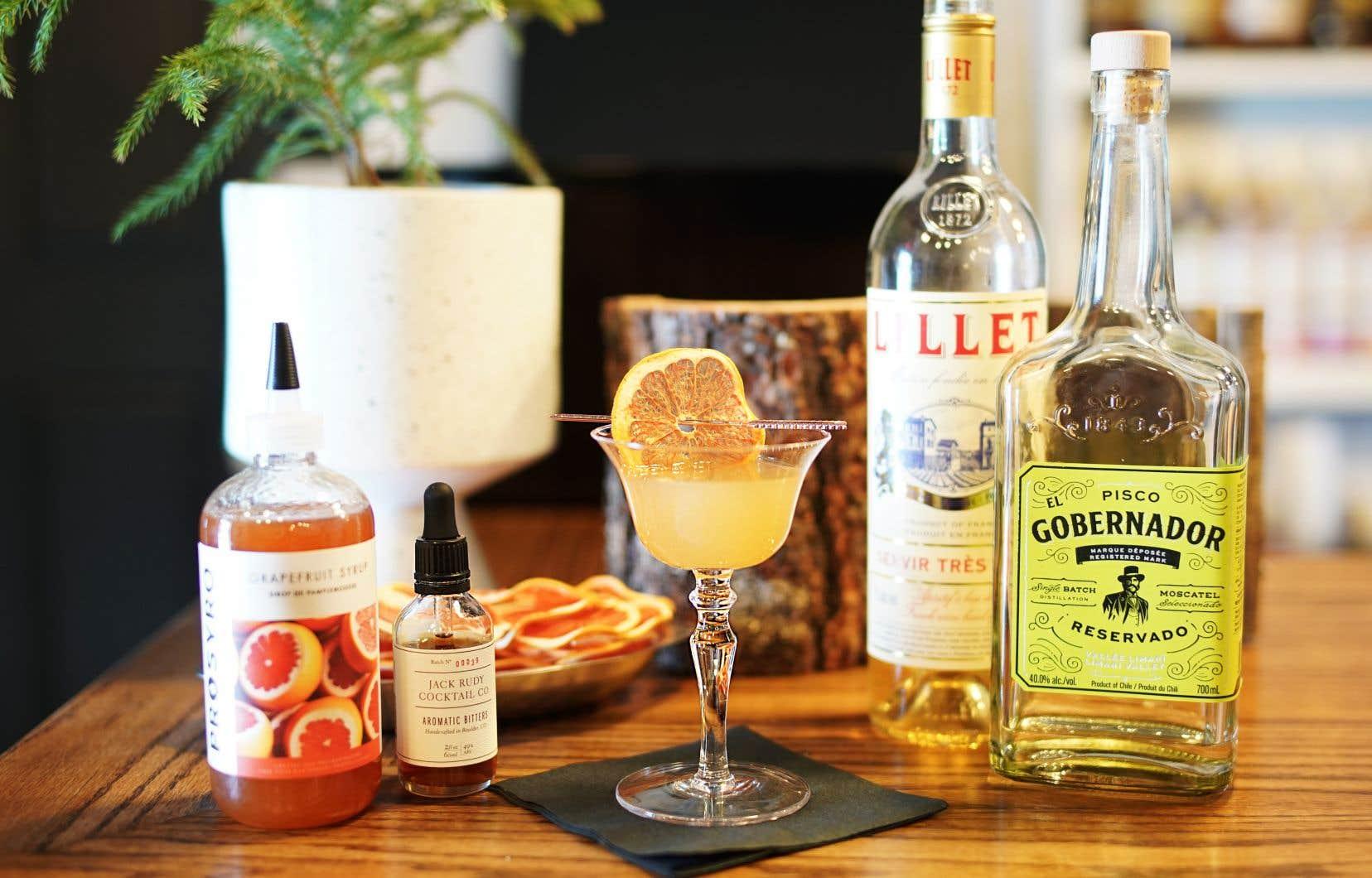 L'idée de ce cocktail est de digérer les excès et de débuter l'année avec légèreté.