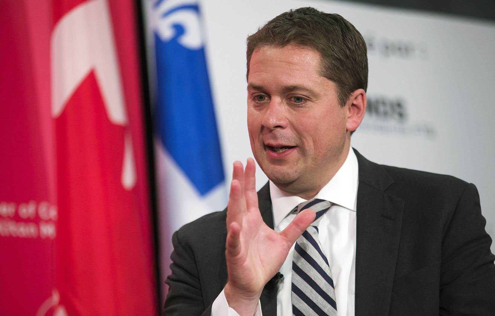 Andrew Scheer a démissionné en décembre de son poste de chef du Parti conservateur du Canada.