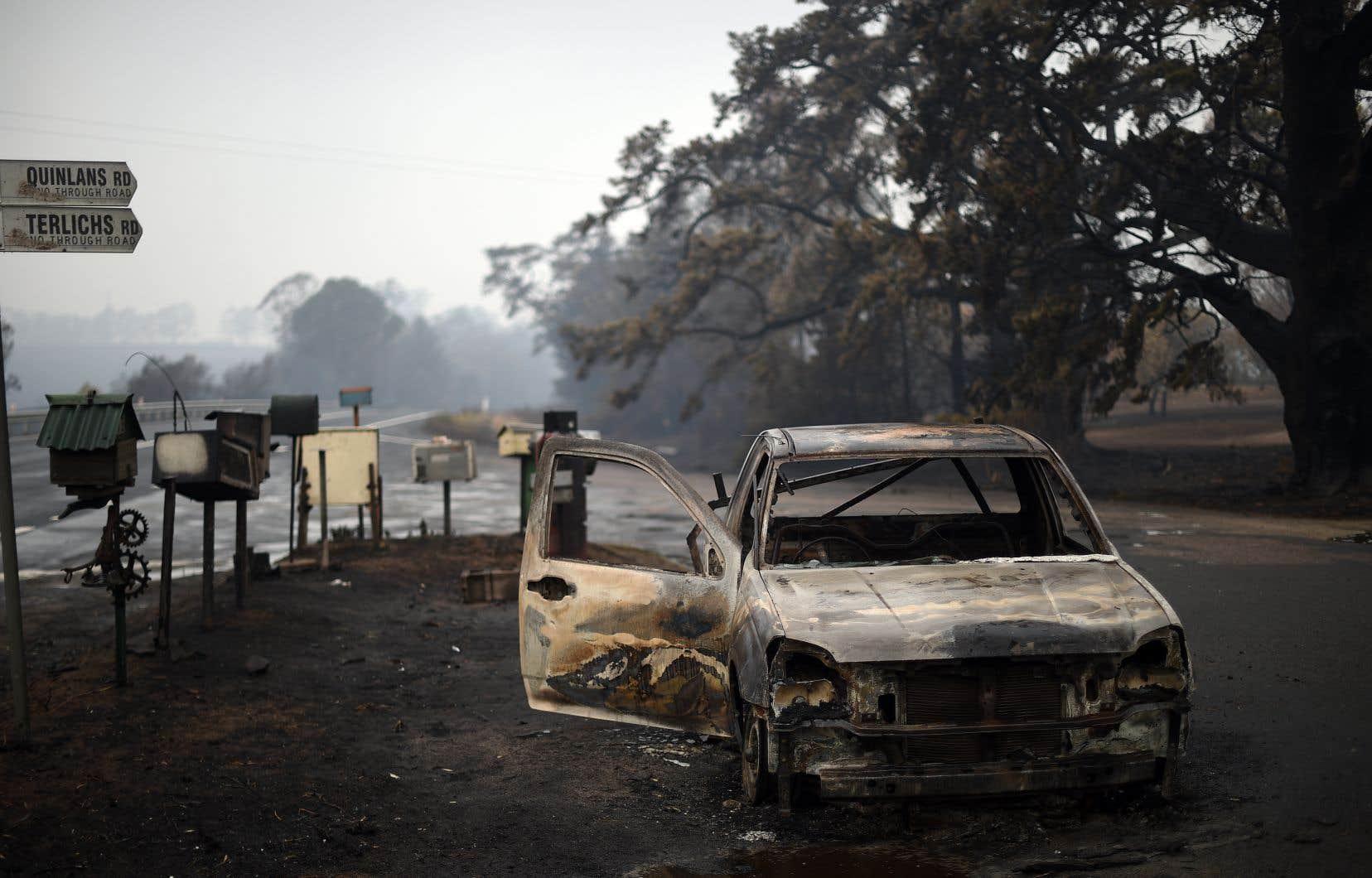 En dépit de conditions météo plus clémentes lundi, les autorités ont averti que la crise était loin d'être terminée, alors que les incendies ont transformé d'immenses étendues boisées en champs de cendres.