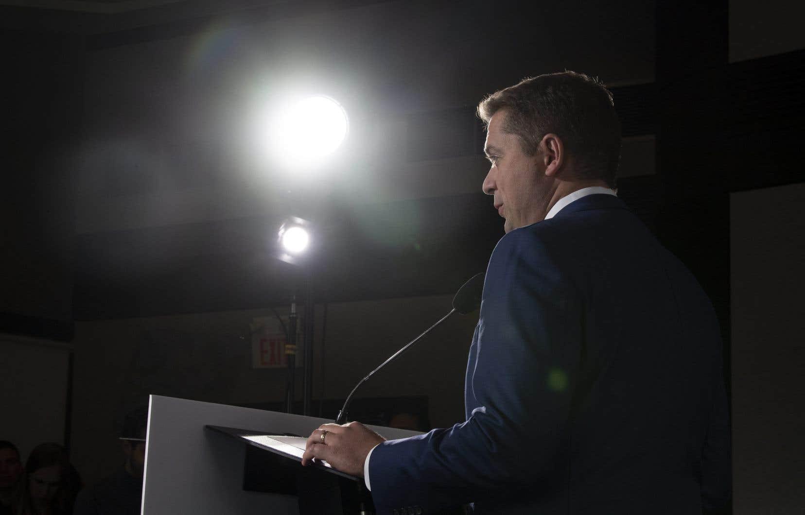 Andrew Scheer a démissionné en décembre de son poste de chef du Parti conservateur du Canada. Son remplaçant devrait être choisi le27juin.