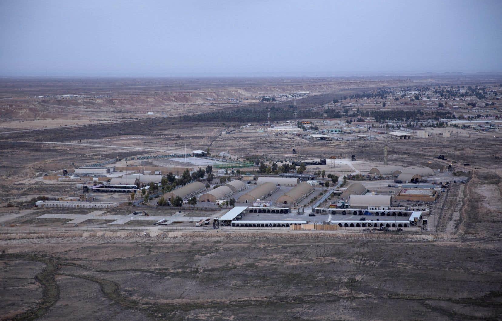 La base aérienne d'Ain al-Asad dans le désert occidental d'Anbar en Irak