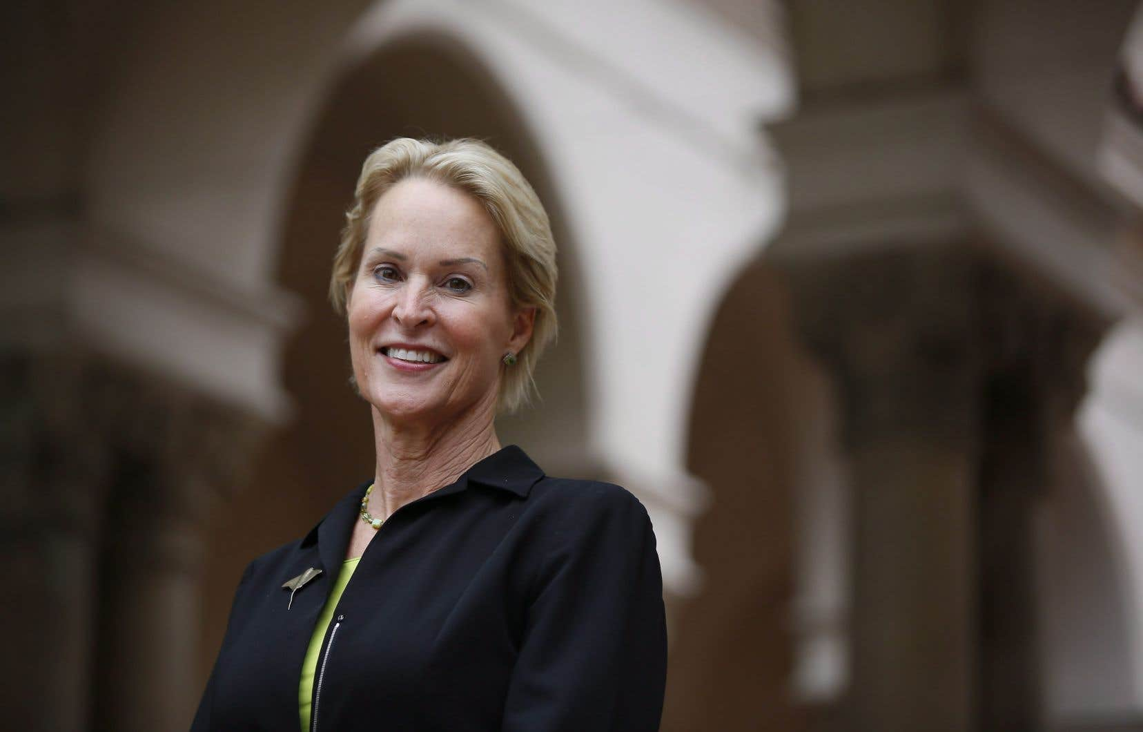 La lauréate du prix Nobel de chimie en 2018, l'Américaine Frances Arnold, professeur au California Institute of Technology