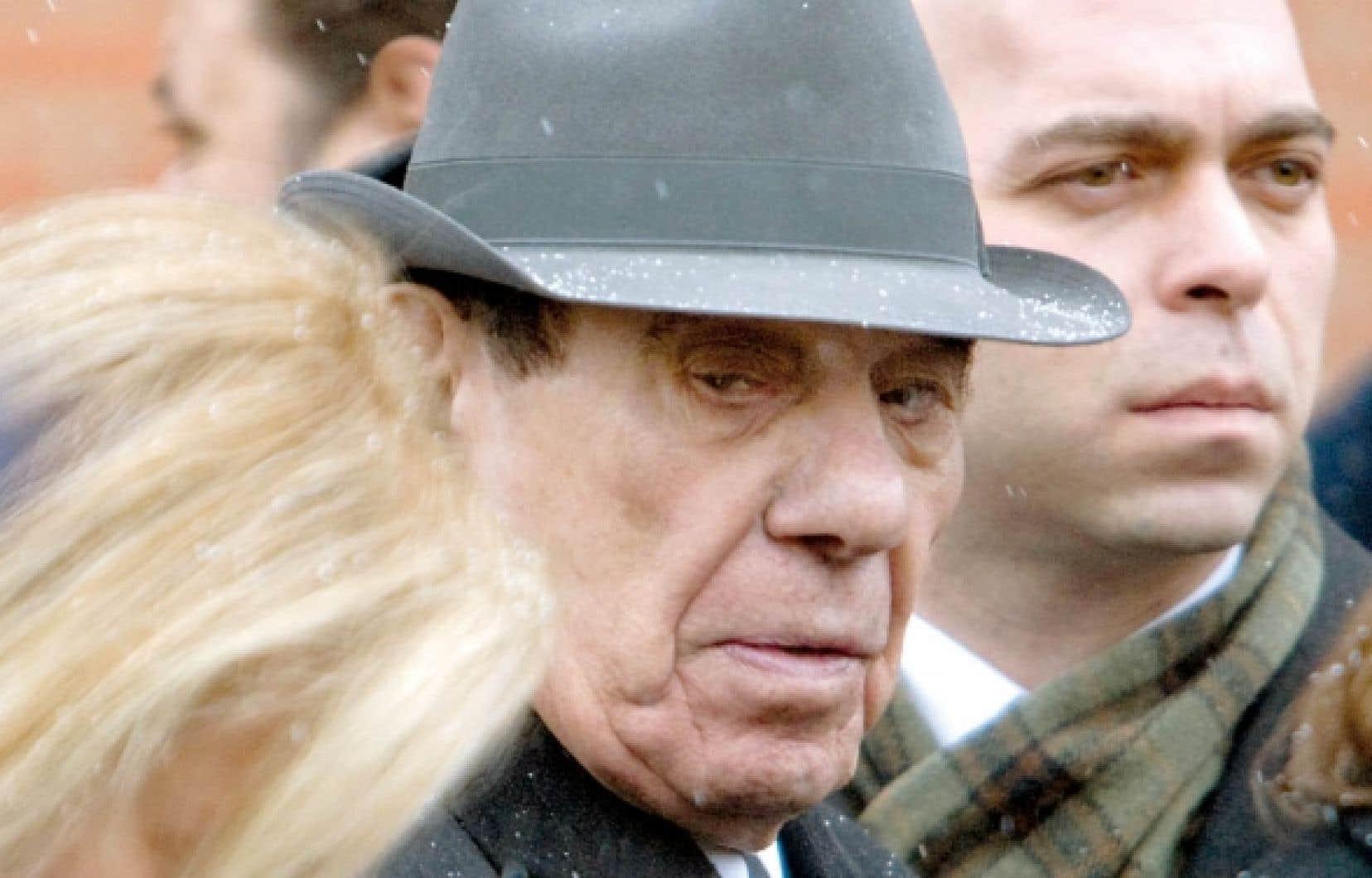 Nicolo Rizzuto aux funérailles de son petit-fils, «Nick Jr», le 2 janvier 2010.