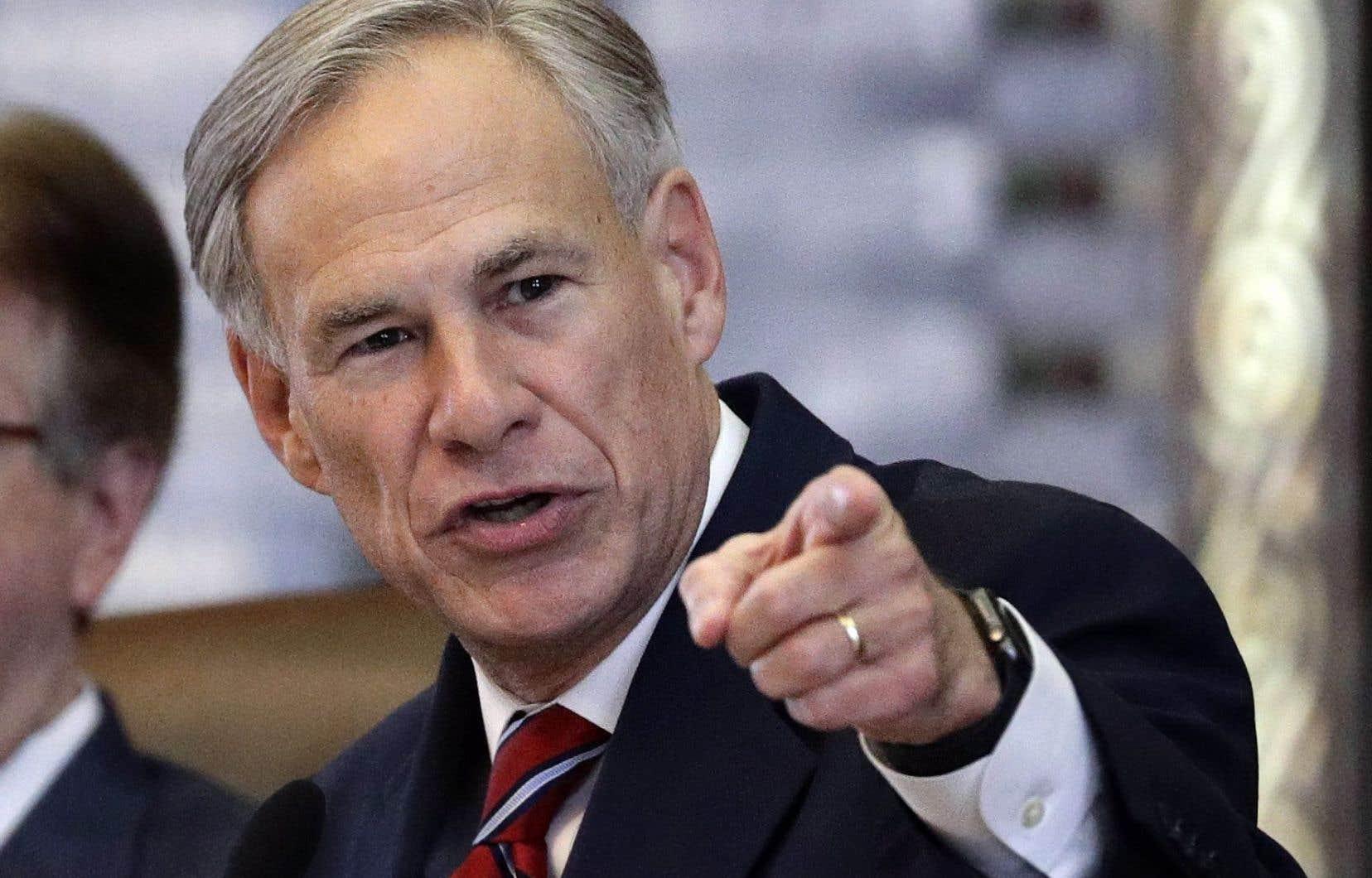 Le gouverneur du Texas, Greg Abbott