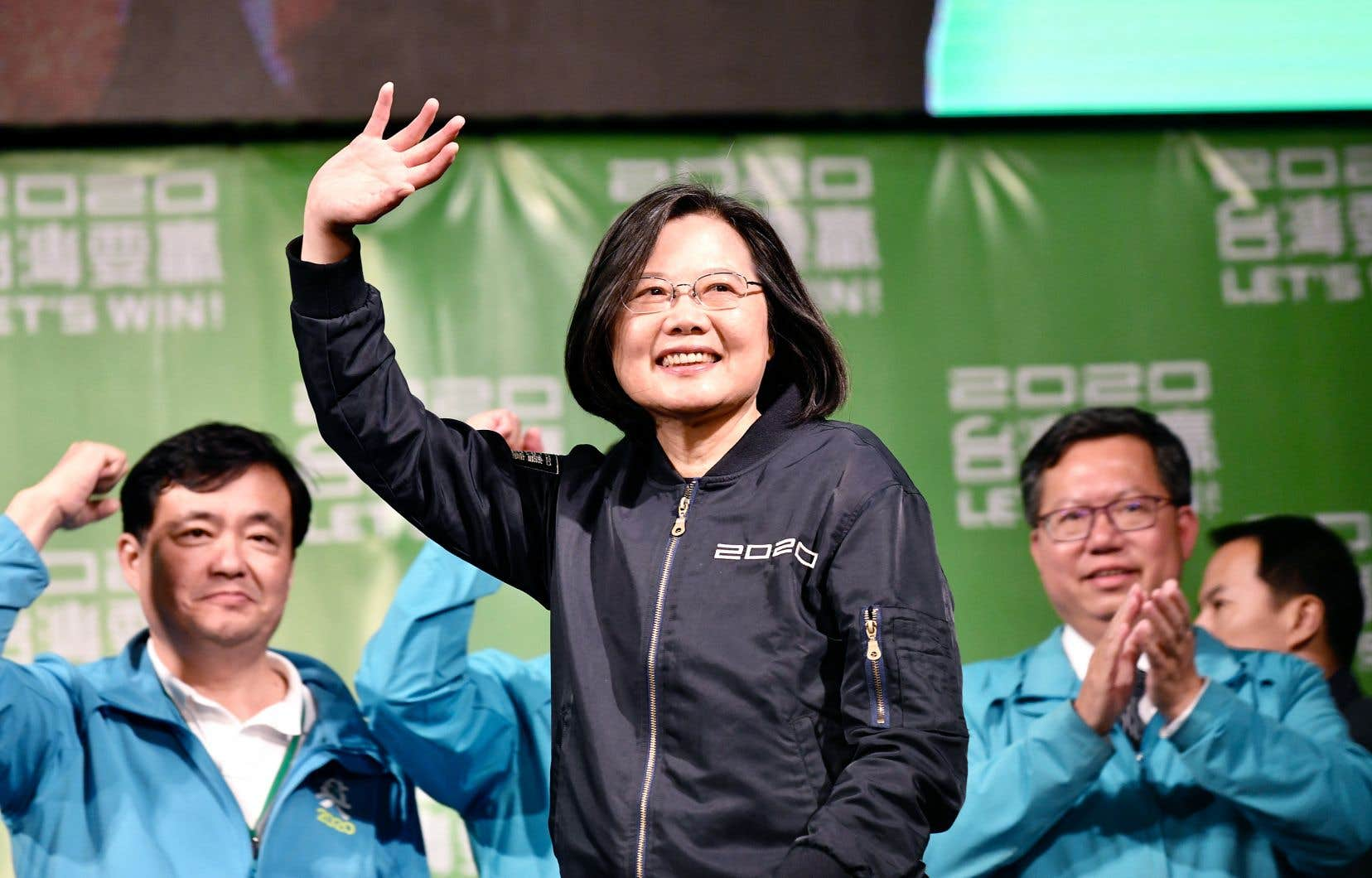 La présidente de Taiwan, Tsai Ing-wen, a été réélue samedi.