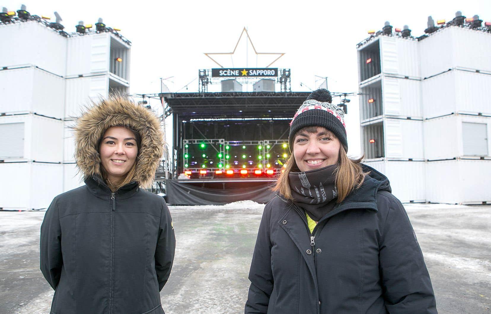 VJ Kitana (Charlotte Risch, à gauche) en sera à sa première expérience comme vidéo-jockey sur le site du Vieux-Port dans le cadre d'Igloofest. Catherine Turp, alias Cafrine, évolue pour sa part sur la scène VJ depuis déjà vingt ans.