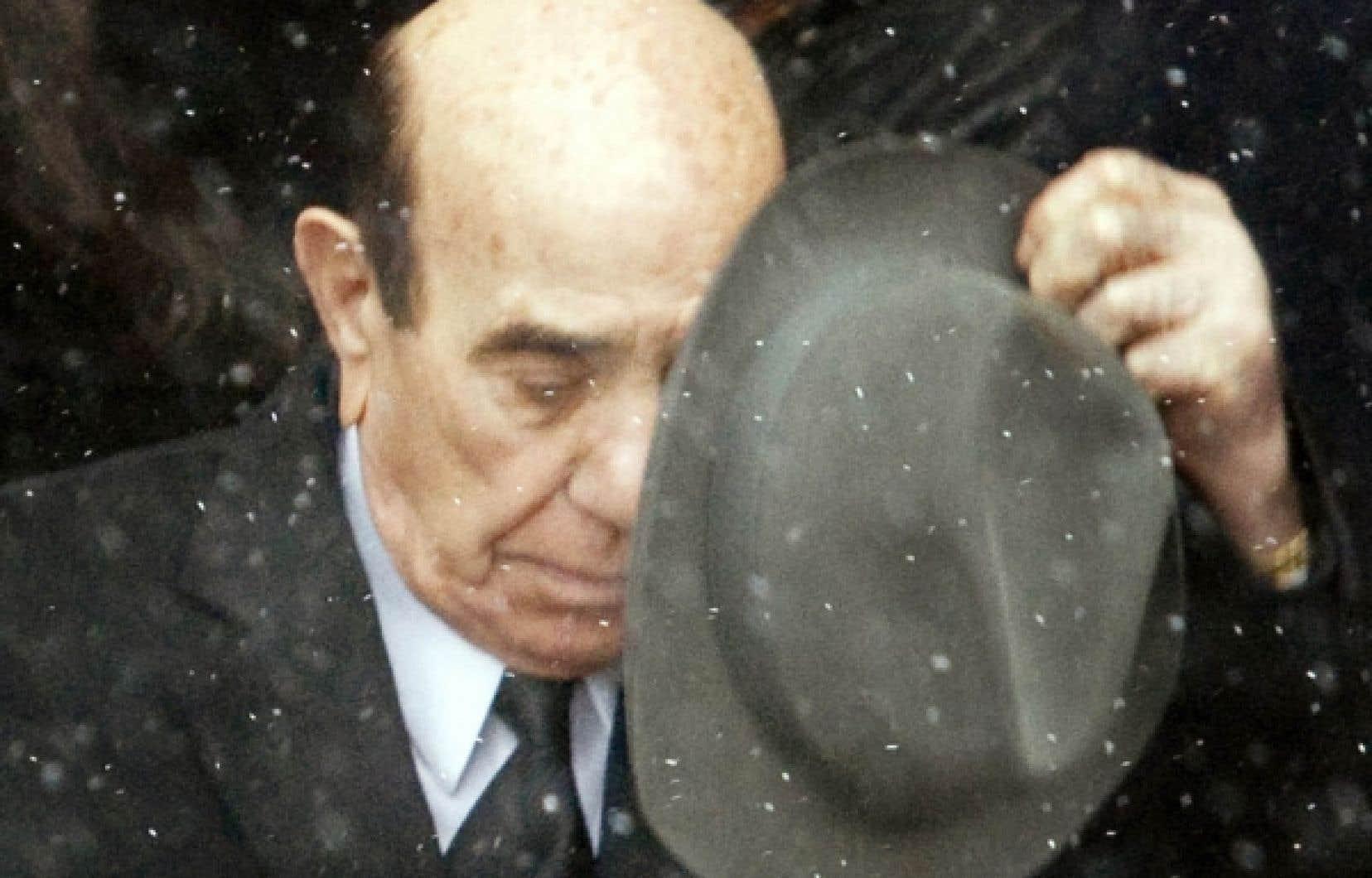 Nick Rizzuto aux funérailles de son petit-fils, le 2 janvier dernier<br />