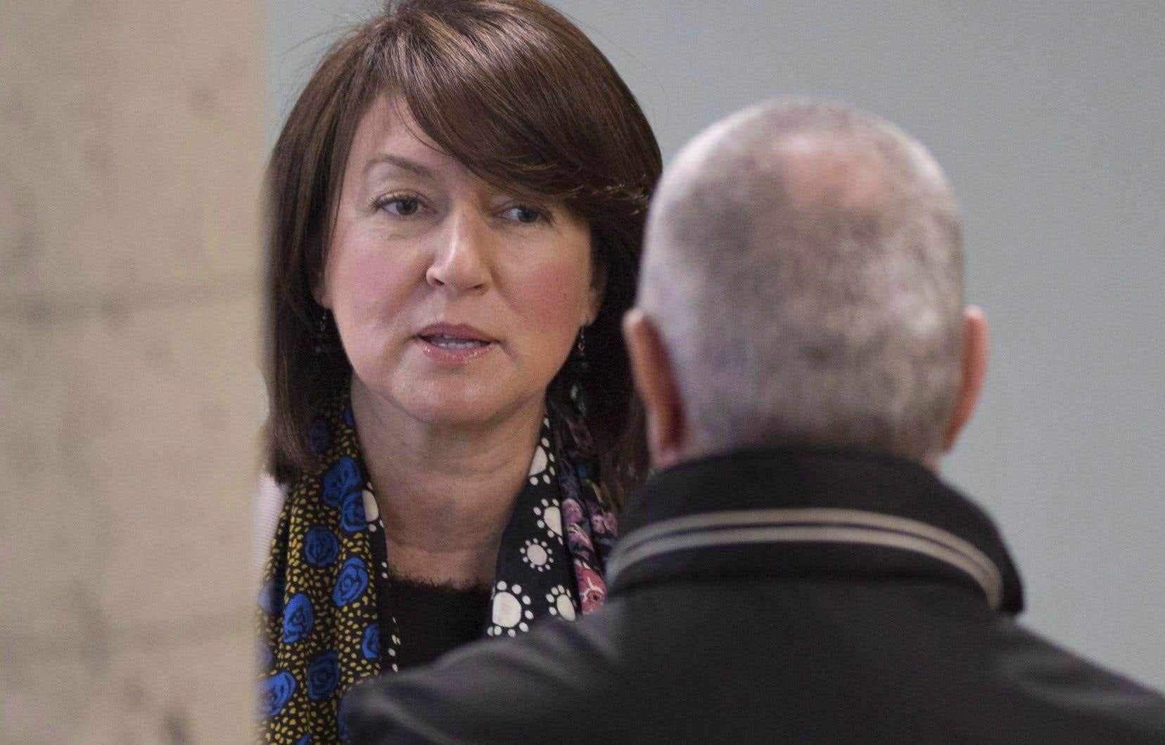 L'ancienne ministre libérale Nathalie Normandeau, photographiée au palais de justice de Québec en juin 2016