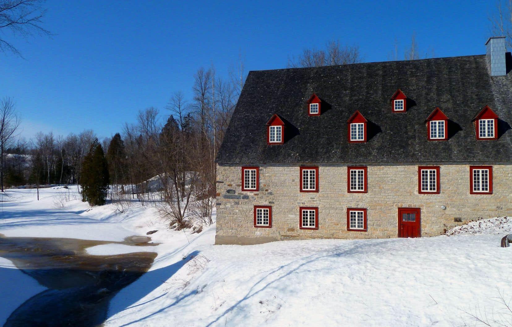 Le moulin de La Chevrotière dans la municipalité de Portneuf