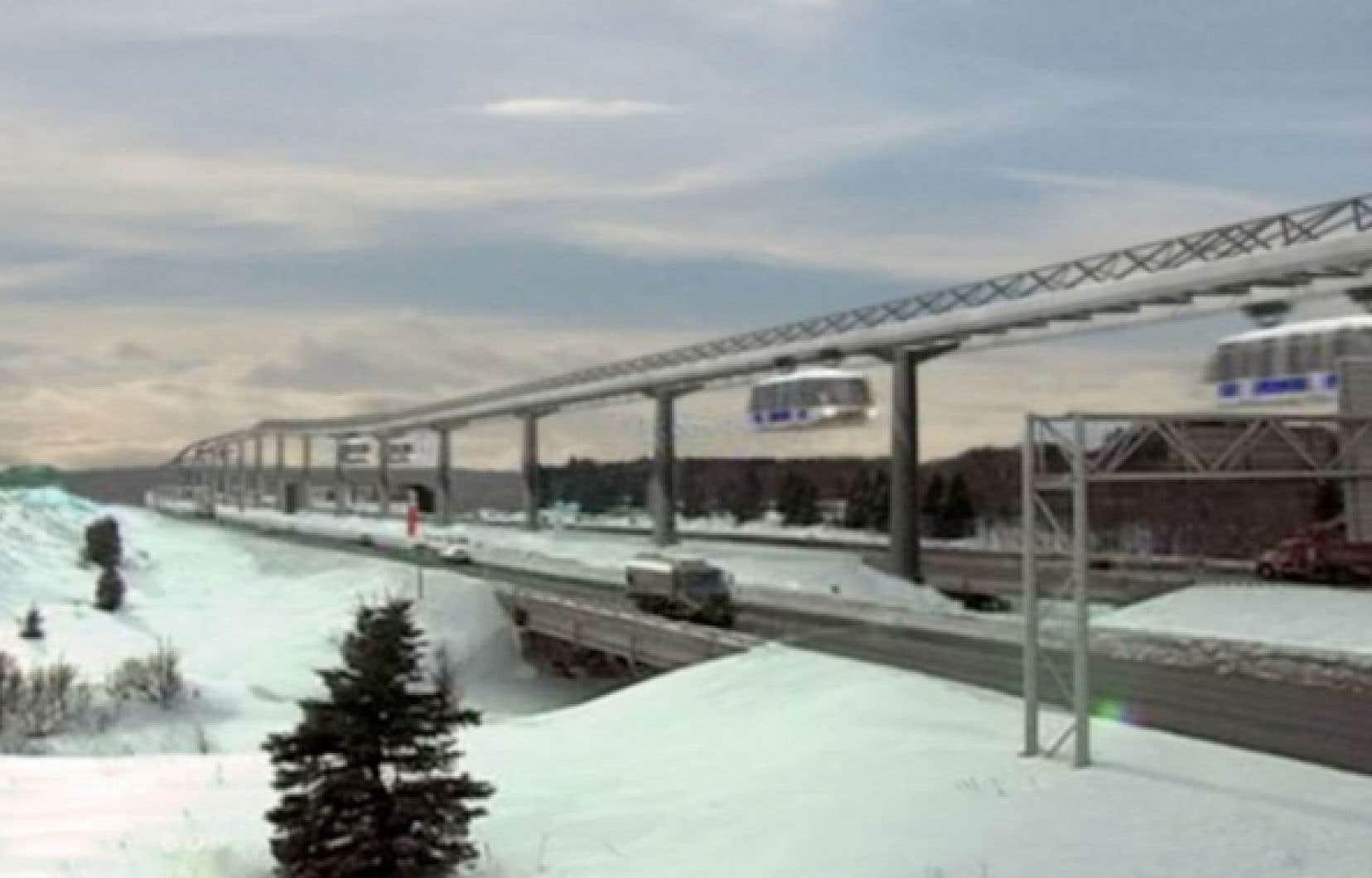 Le trajet Québec-Montréal ne coûterait que 40 $ d'électricité.<br />