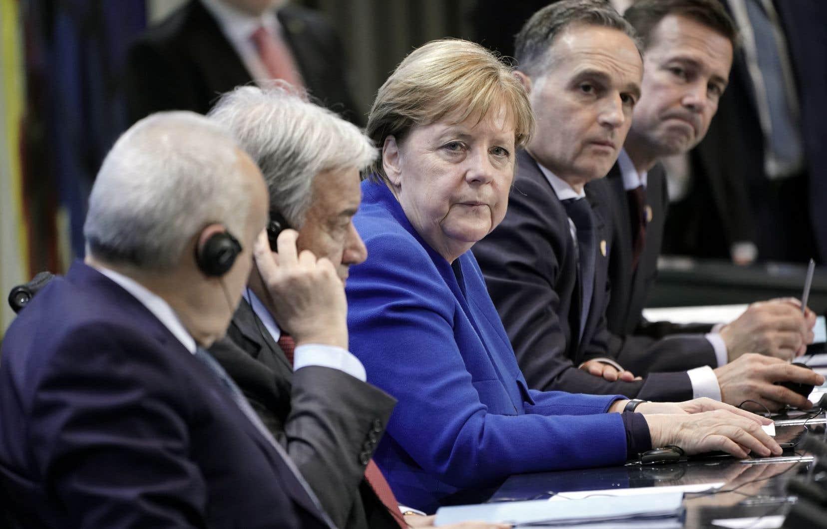Angela Merkel, hôte de la conférence, a parlé d'un «petit pas en avant».