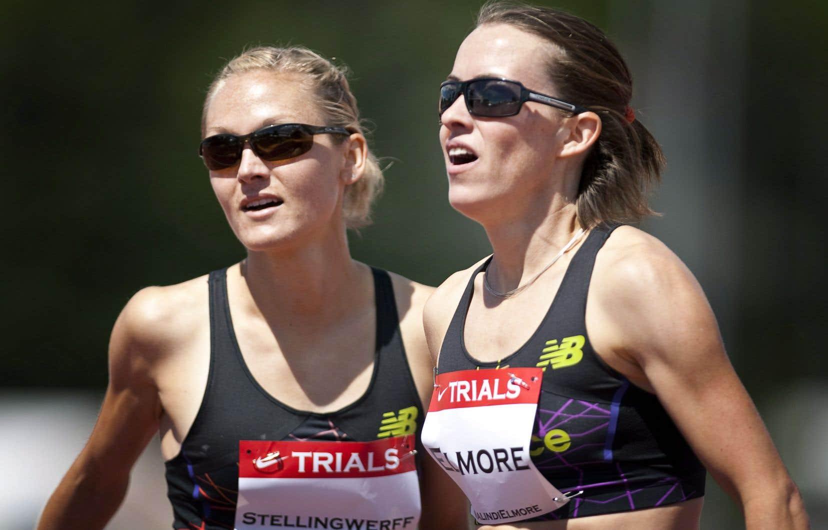 Malindi Elmore (à droite) a fait ses débuts en marathon il y a un an.